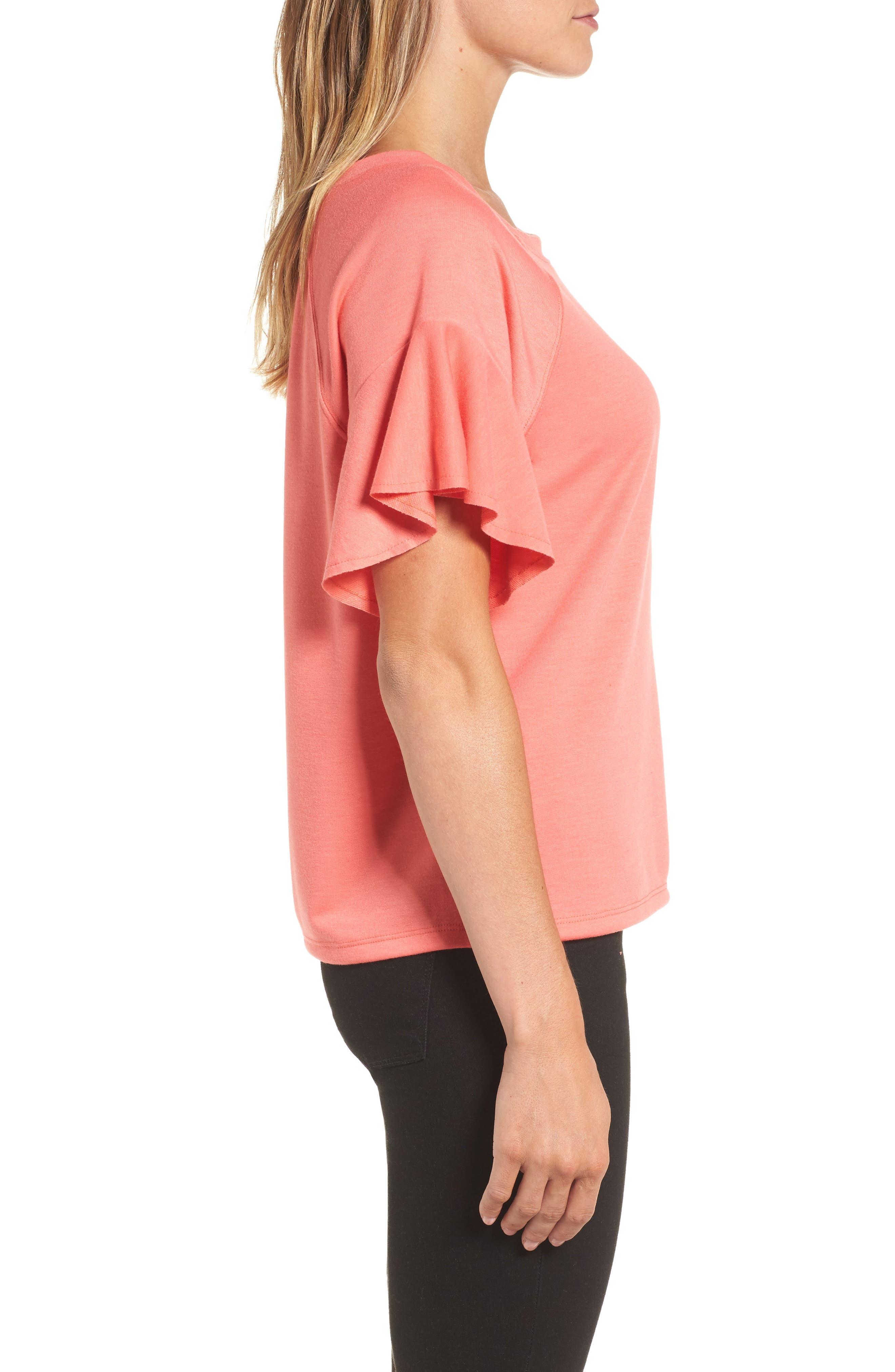 Ruffle Sleeve Sweatshirt,                             Alternate thumbnail 12, color,