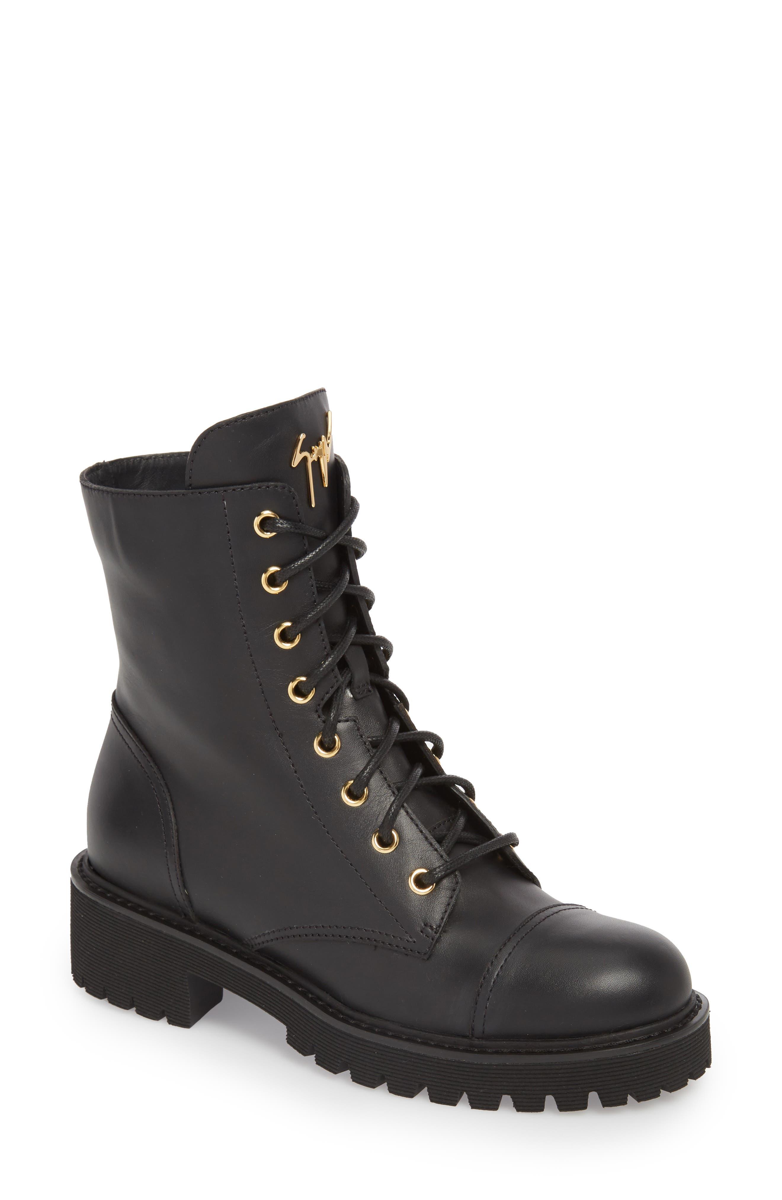 Combat Boot,                             Main thumbnail 1, color,                             BLACK