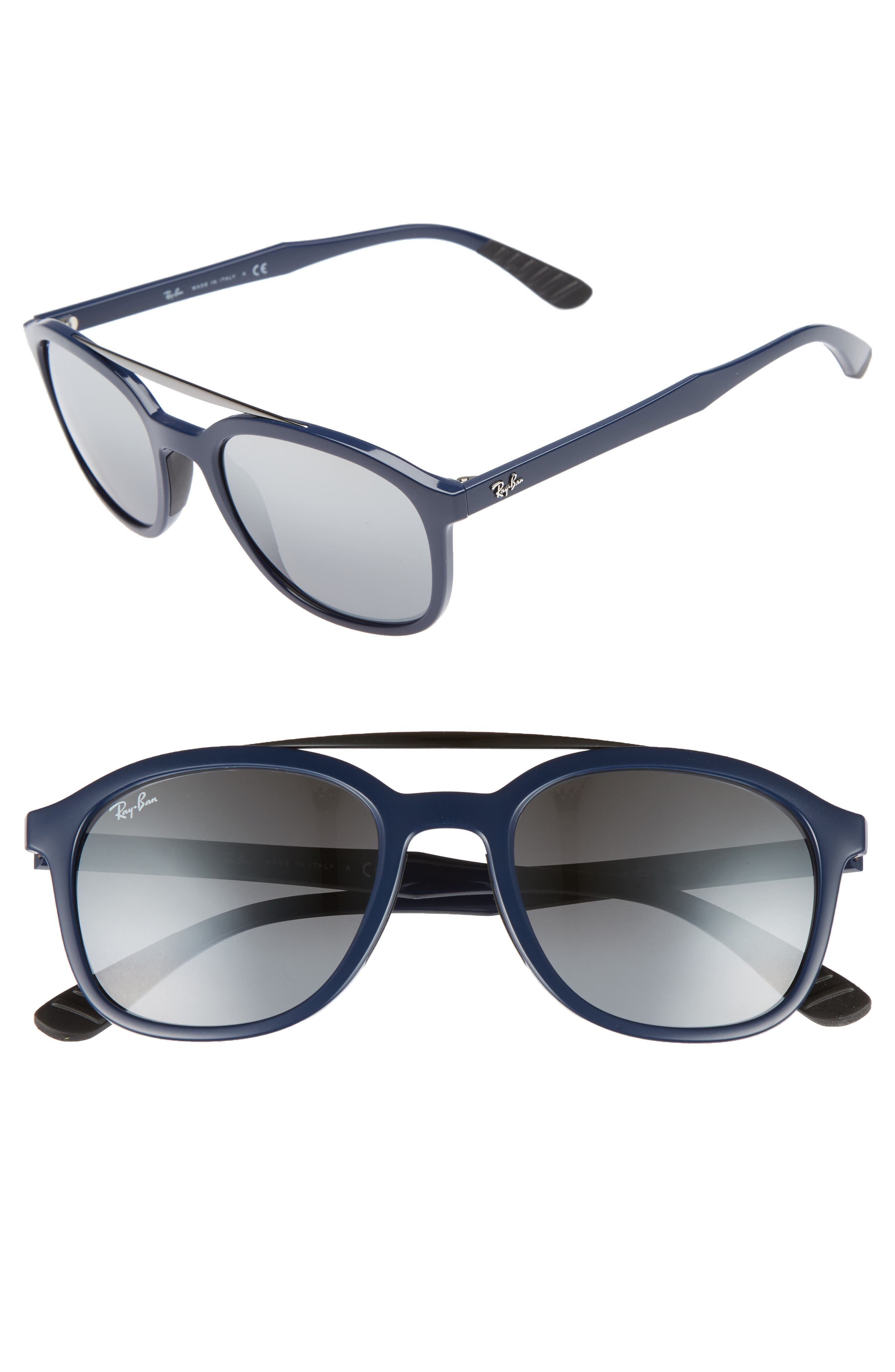 Active Lifestyle 53mm Sunglasses,                             Main thumbnail 1, color,                             BLUE
