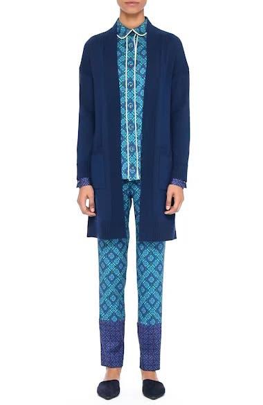 Jersey Cashmere Blend Sparkle Knit Jacket, video thumbnail