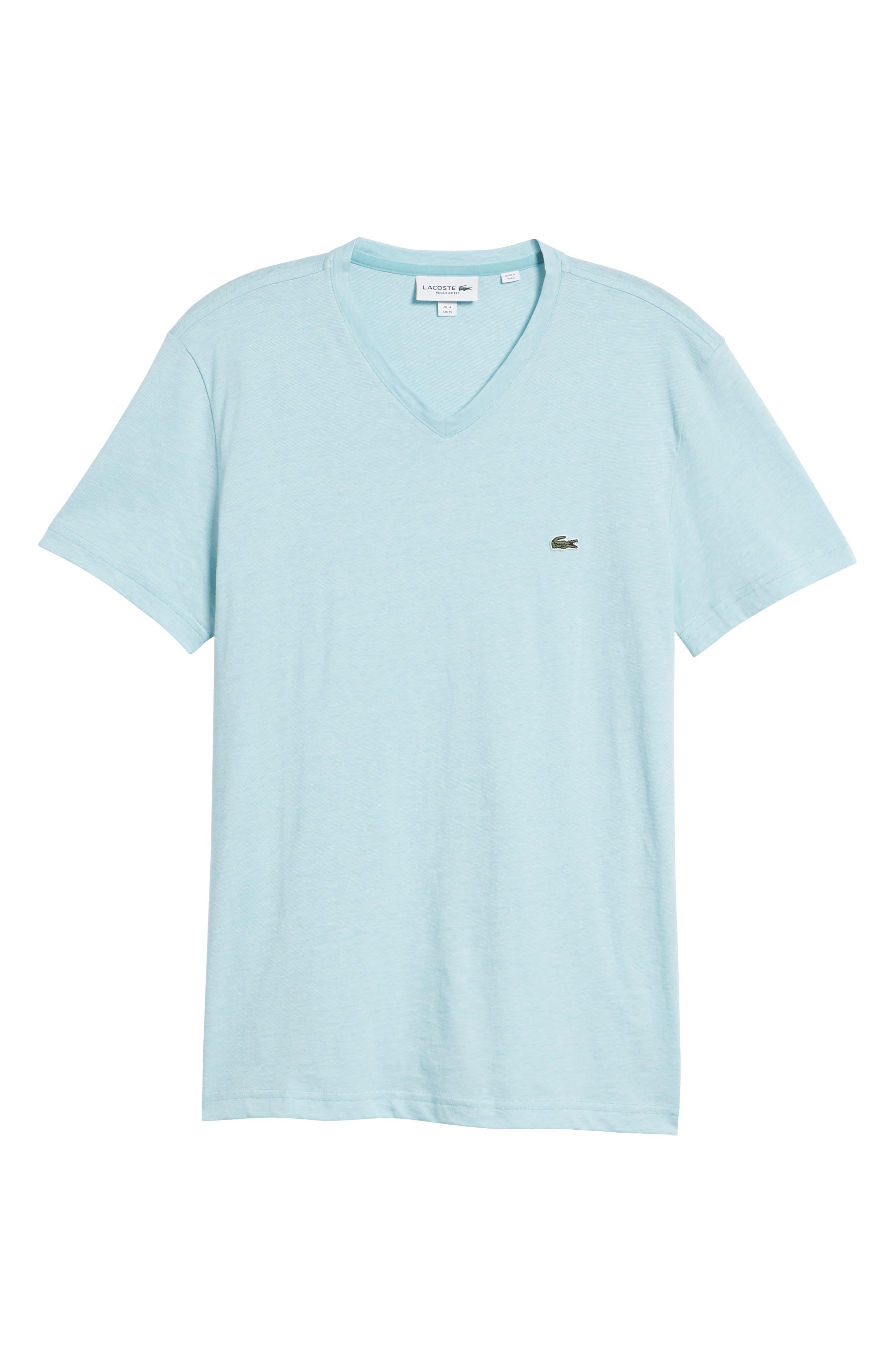 V-Neck Cotton T-Shirt,                             Alternate thumbnail 17, color,
