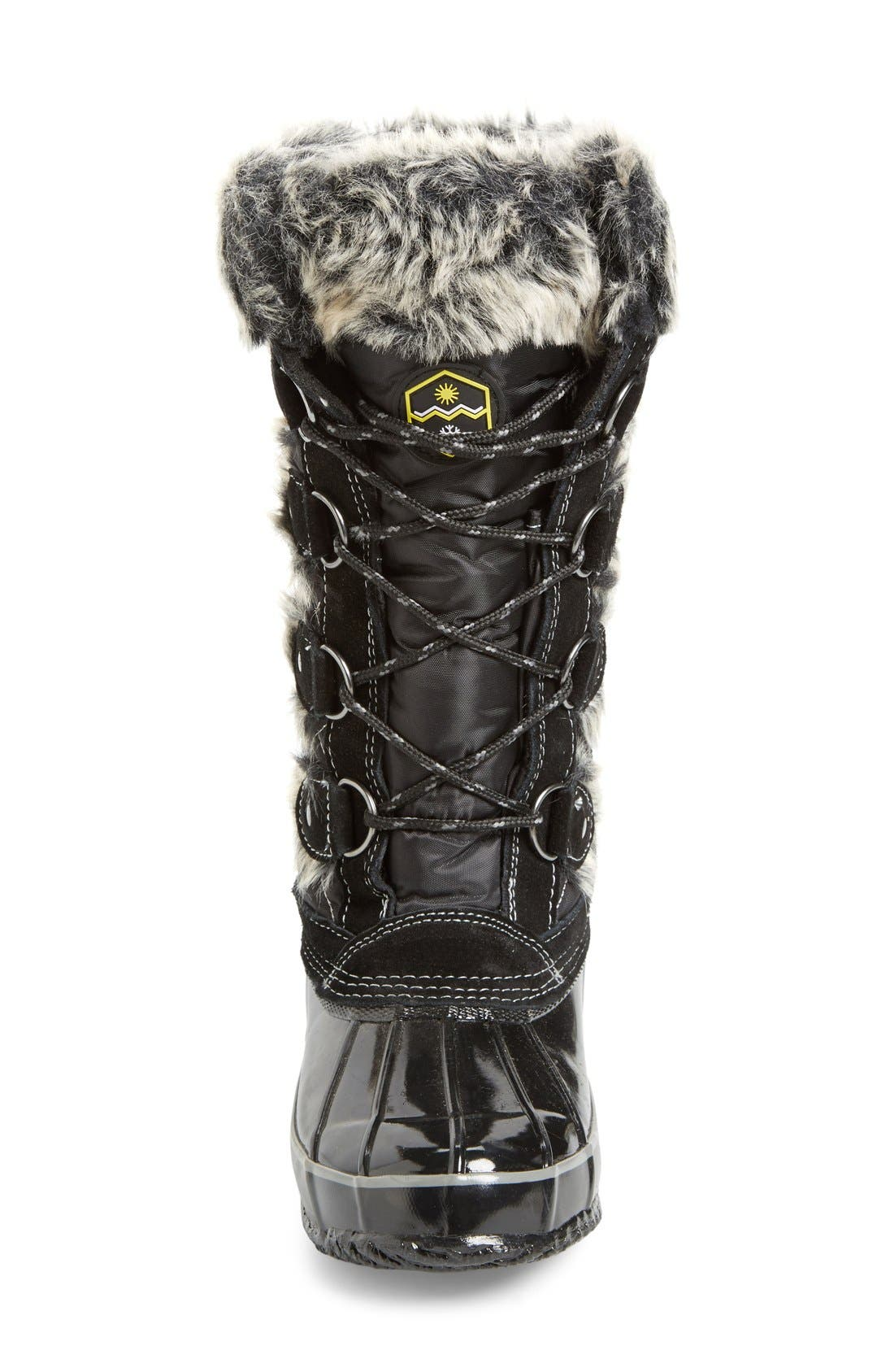 Waterproof Lace-Up Boot,                             Alternate thumbnail 3, color,                             001