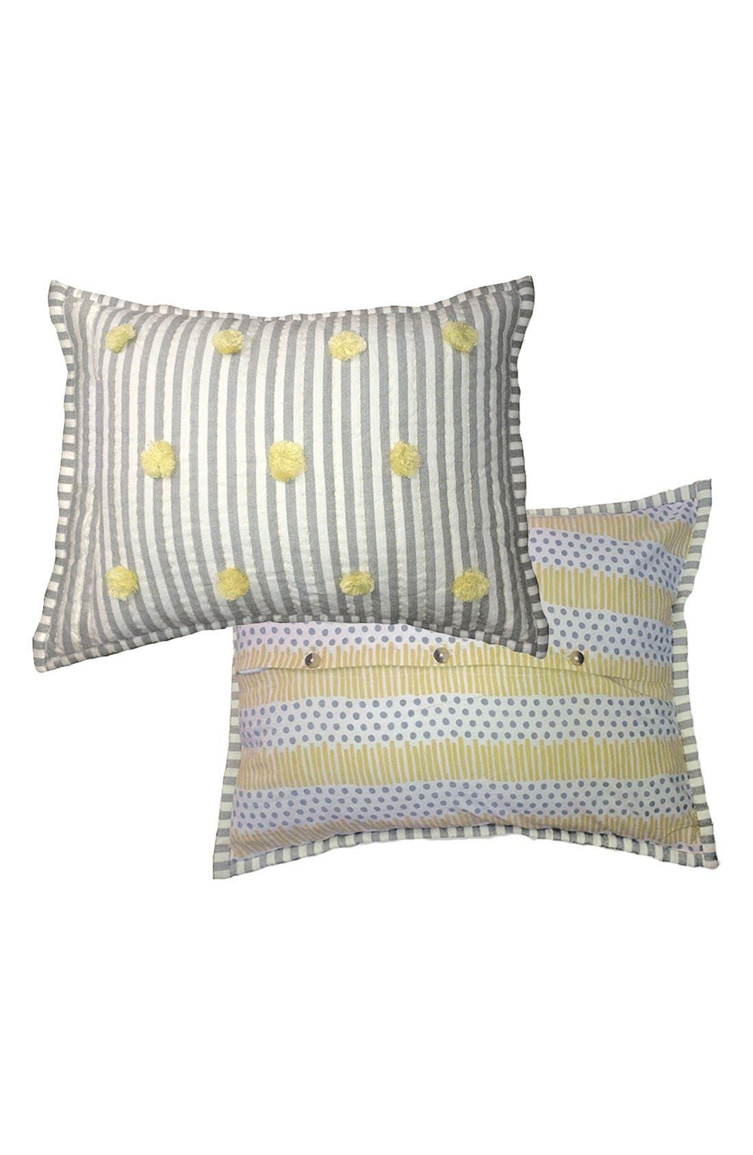 'Rest My Little Head' Cotton Pillow,                             Main thumbnail 1, color,                             020