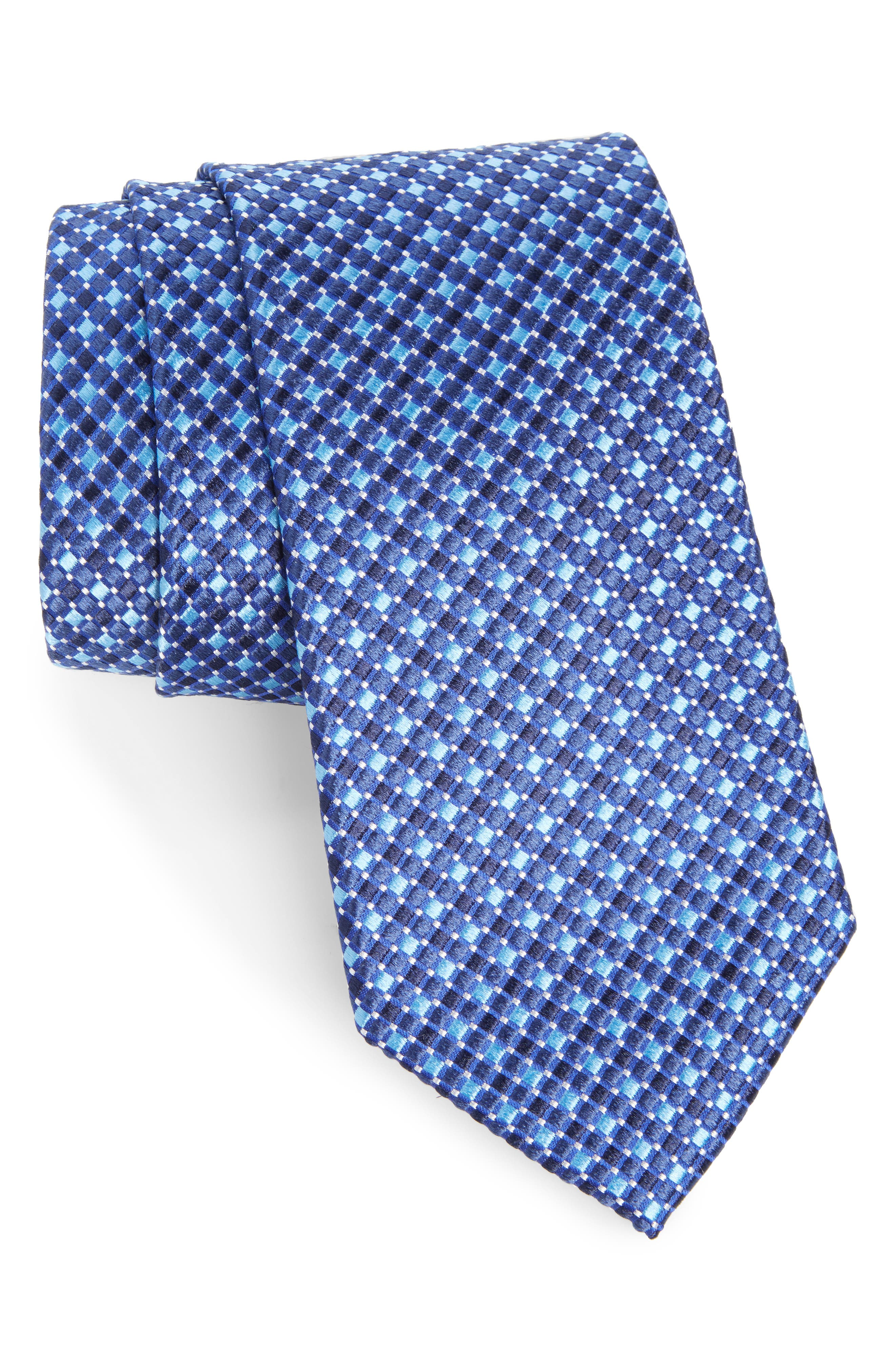 Geo Pattern Silk Tie,                             Main thumbnail 3, color,