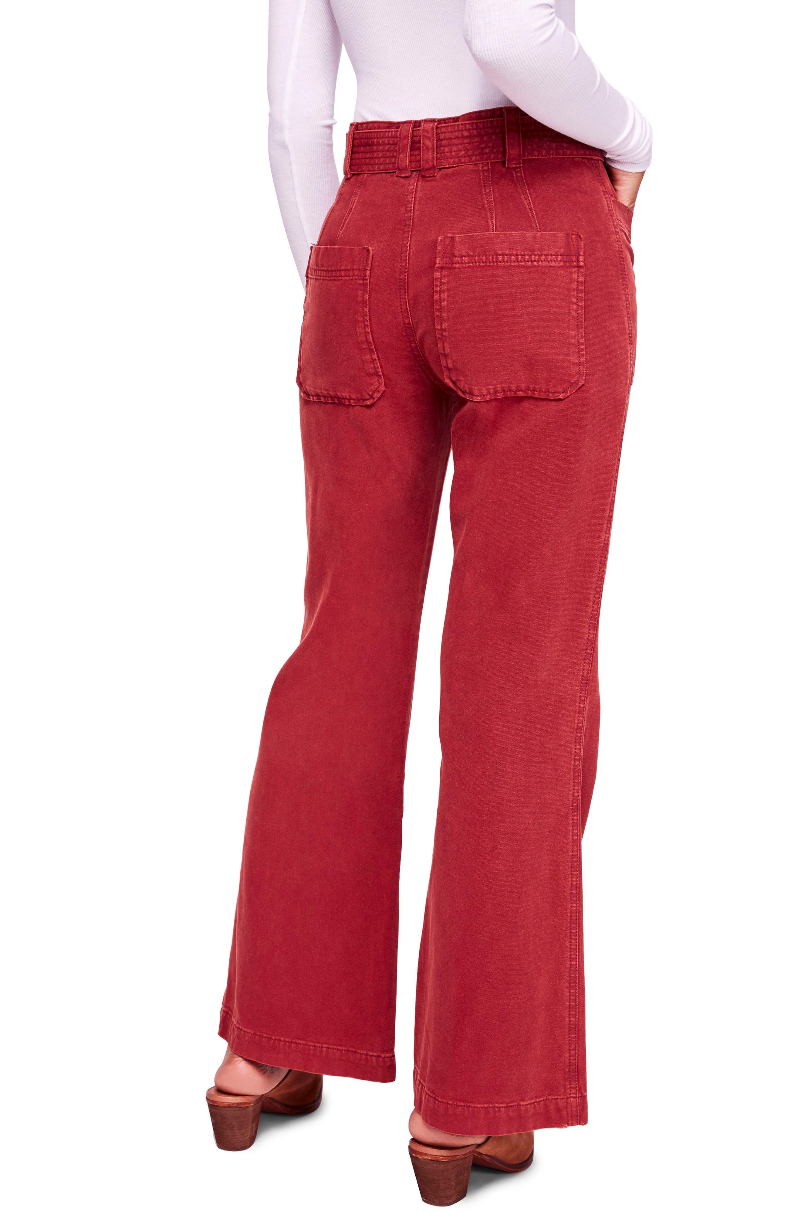 Corin Mod Slim Flare Pants,                             Alternate thumbnail 2, color,                             WINE