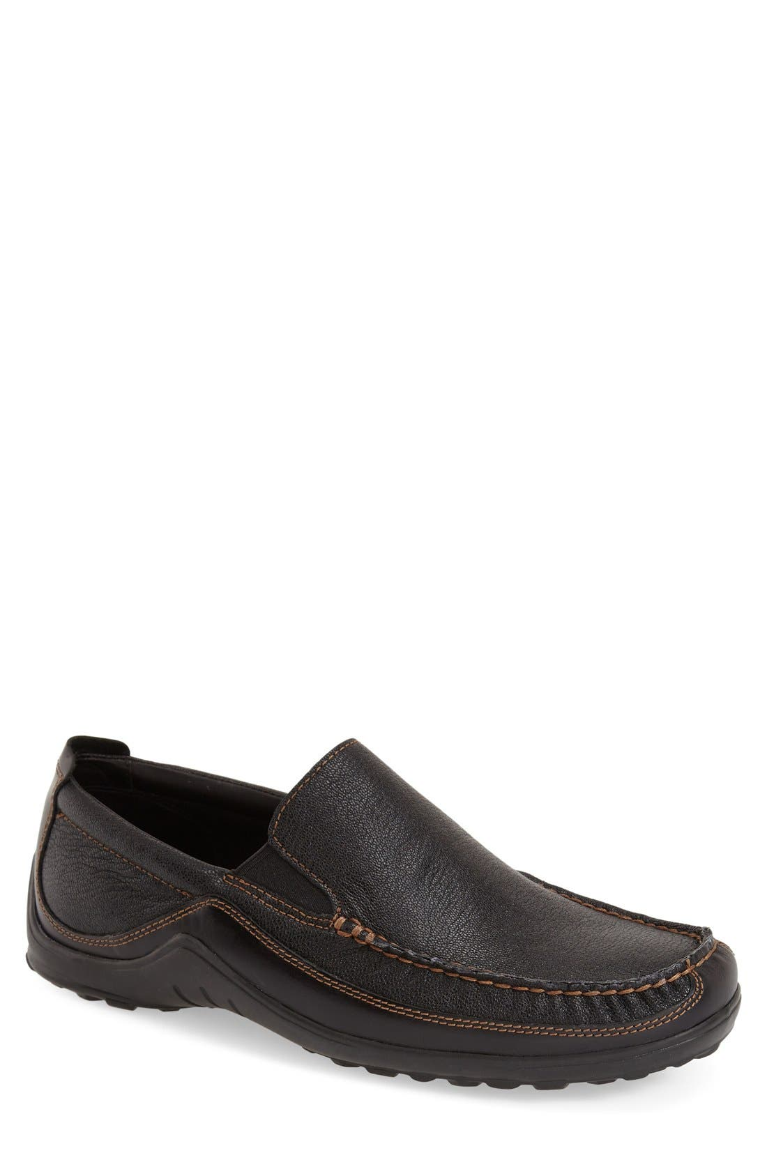 'Tucker Venetian' Loafer,                         Main,                         color, BLACK