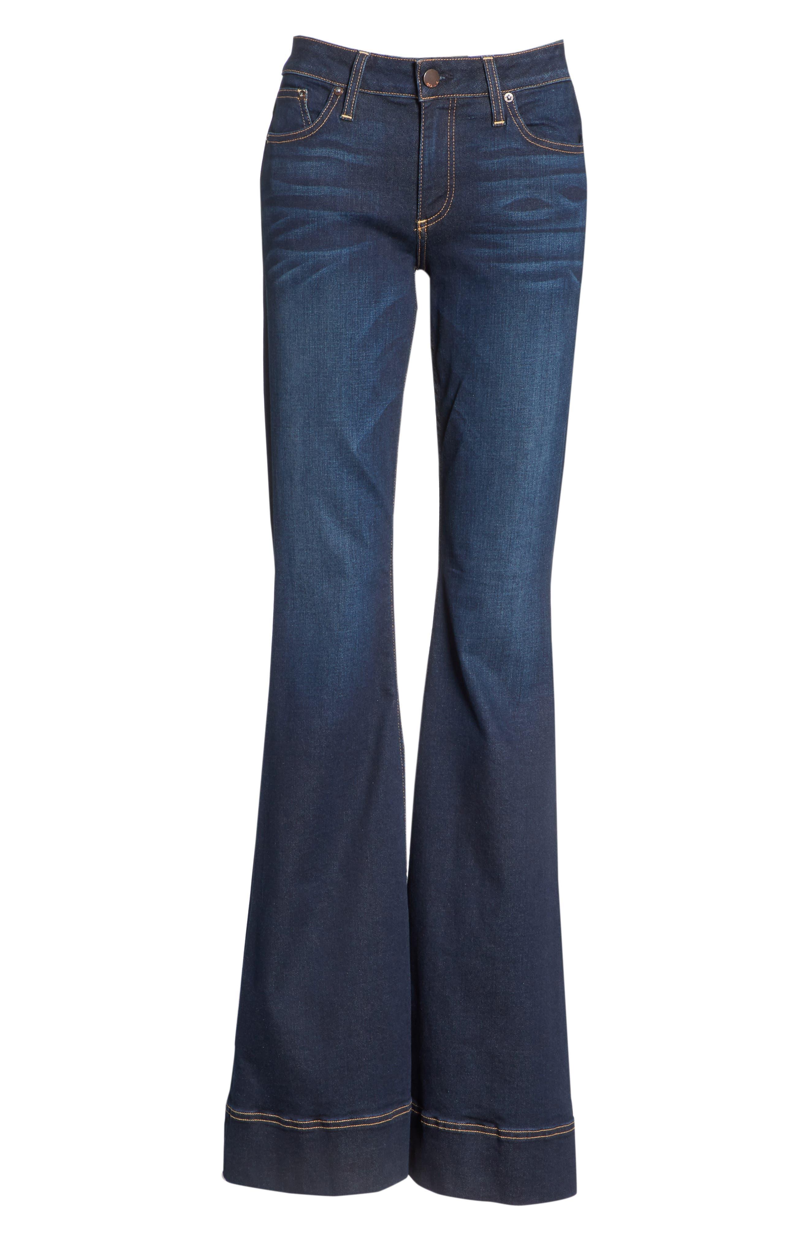 AO.LA Beautiful Bell Bottom Jeans,                             Alternate thumbnail 6, color,                             TRUST ME