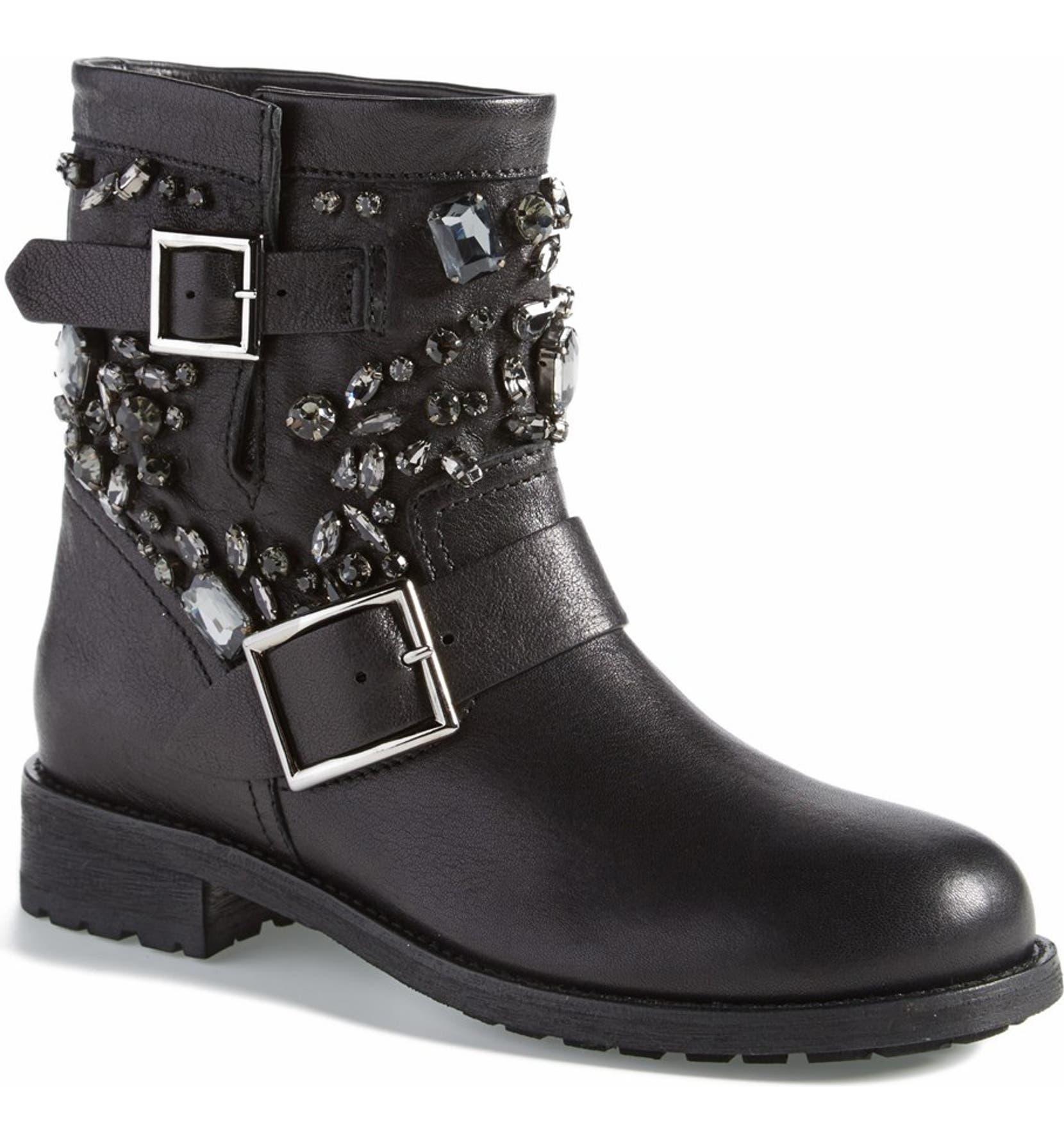 b7537bd57d23 Jimmy Choo  Youth  Short Moto Boot (Women)