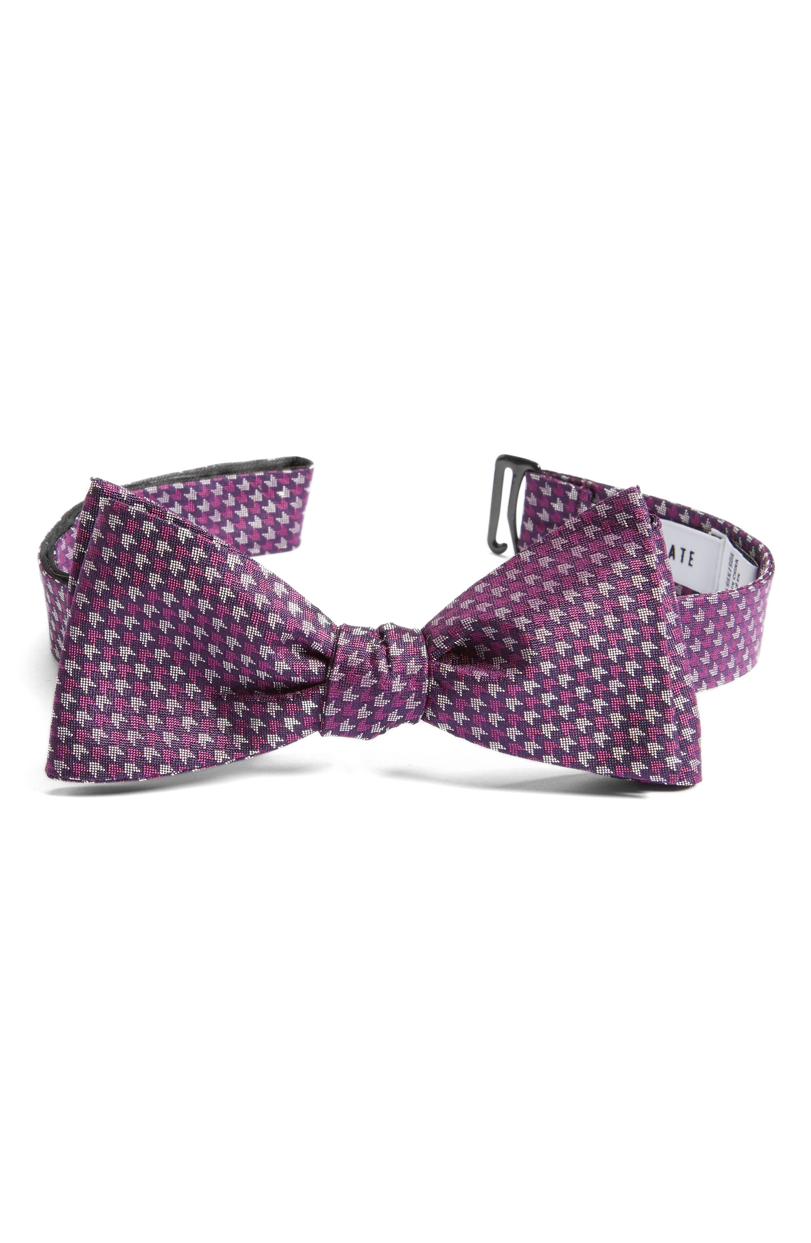 One Way Geometric Silk Bow Tie,                             Alternate thumbnail 7, color,