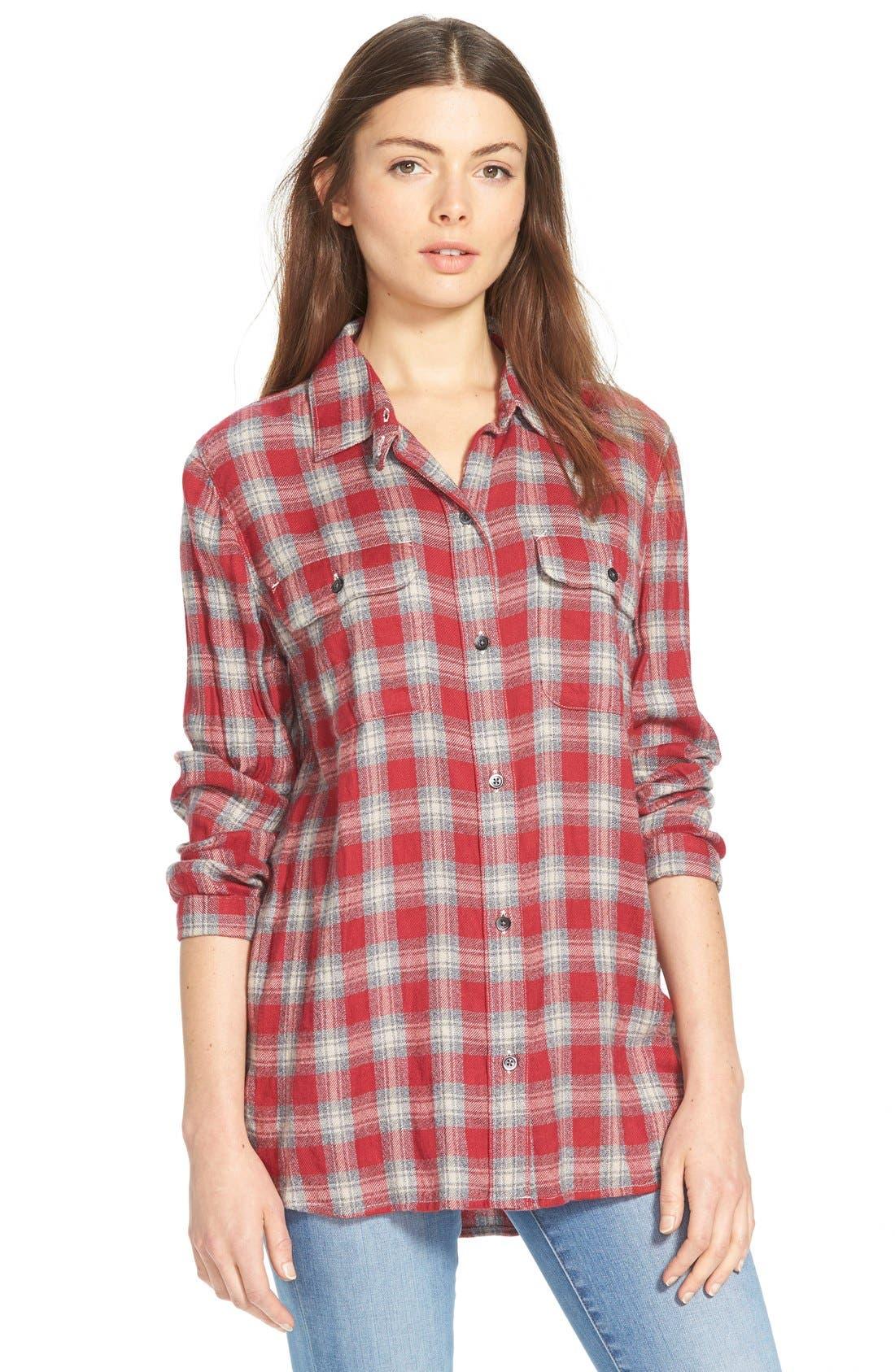 'Fairfax Plaid' Ex-Boyfriend Shirt, Main, color, 600