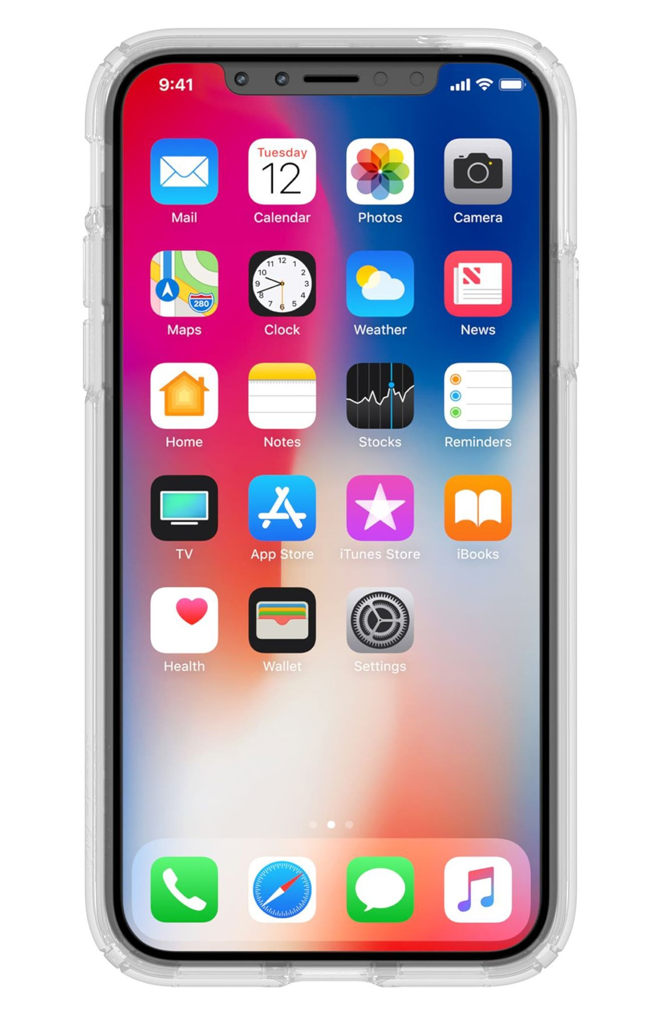 Transparent iPhone X Case,                             Alternate thumbnail 3, color,