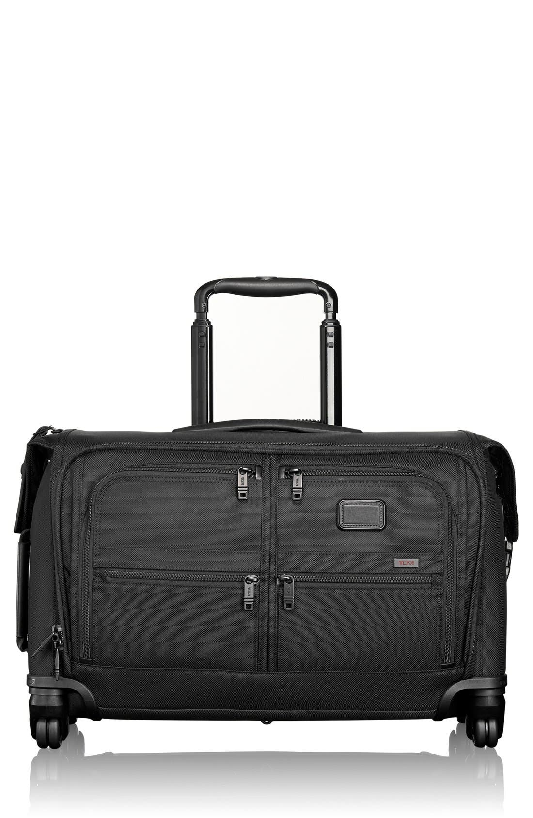 Alpha 2 Wheeled 22-Inch Carry-On Garment Bag,                             Main thumbnail 1, color,                             BLACK