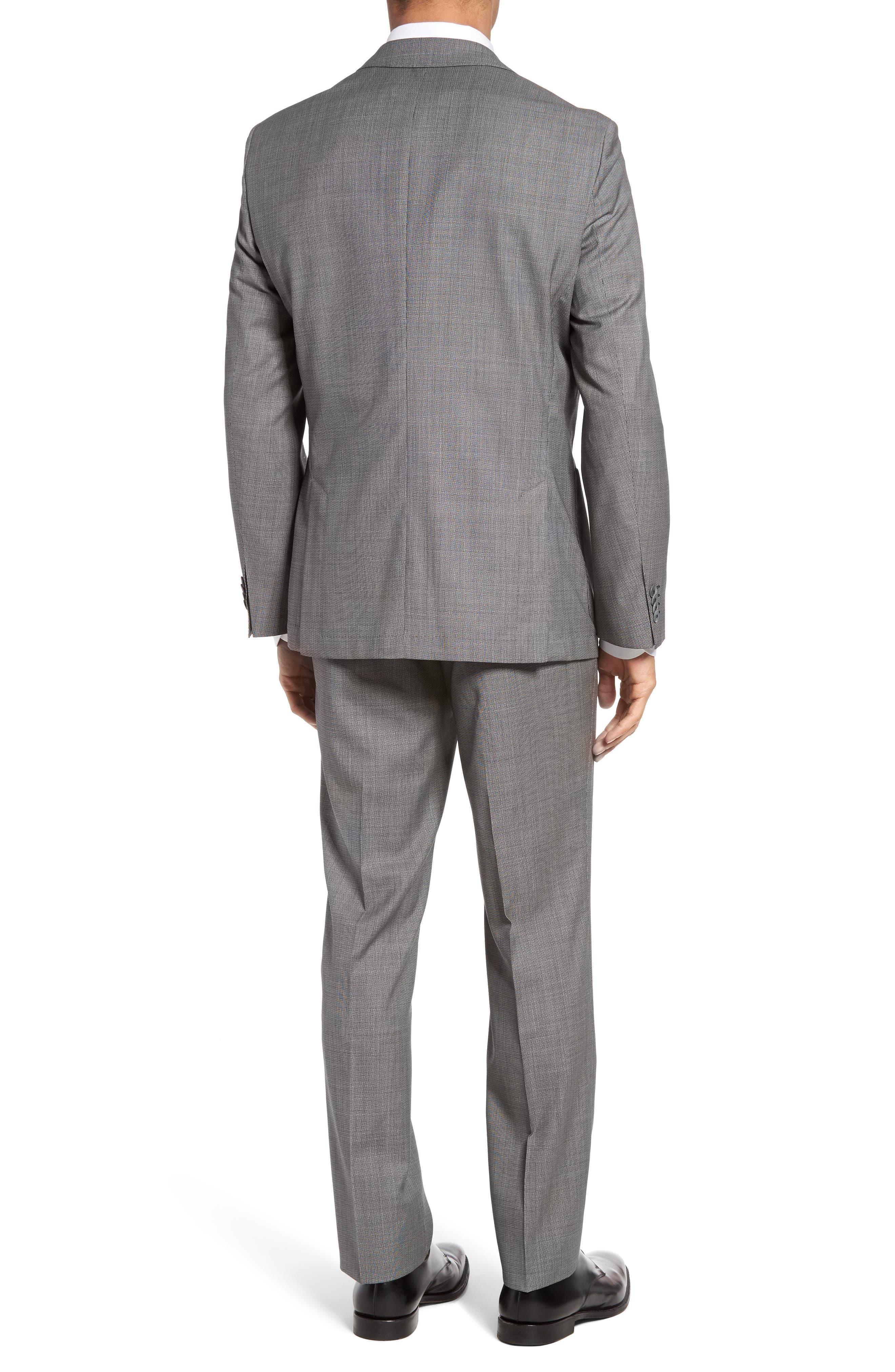 Janon/Lenon Trim Fit Solid Wool Suit,                             Alternate thumbnail 2, color,                             020