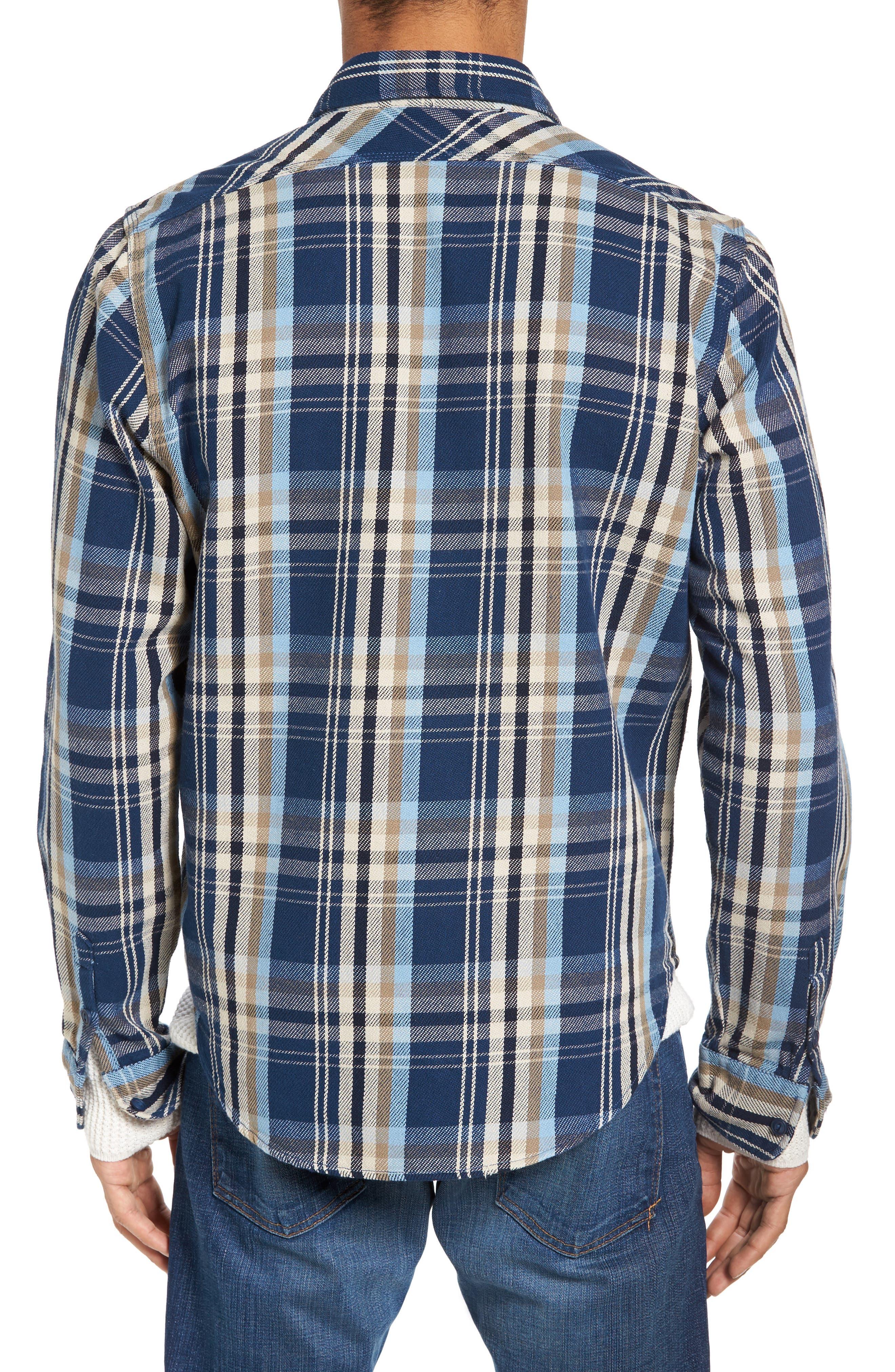 Classic Fit Plaid Flannel Shirt,                             Alternate thumbnail 8, color,