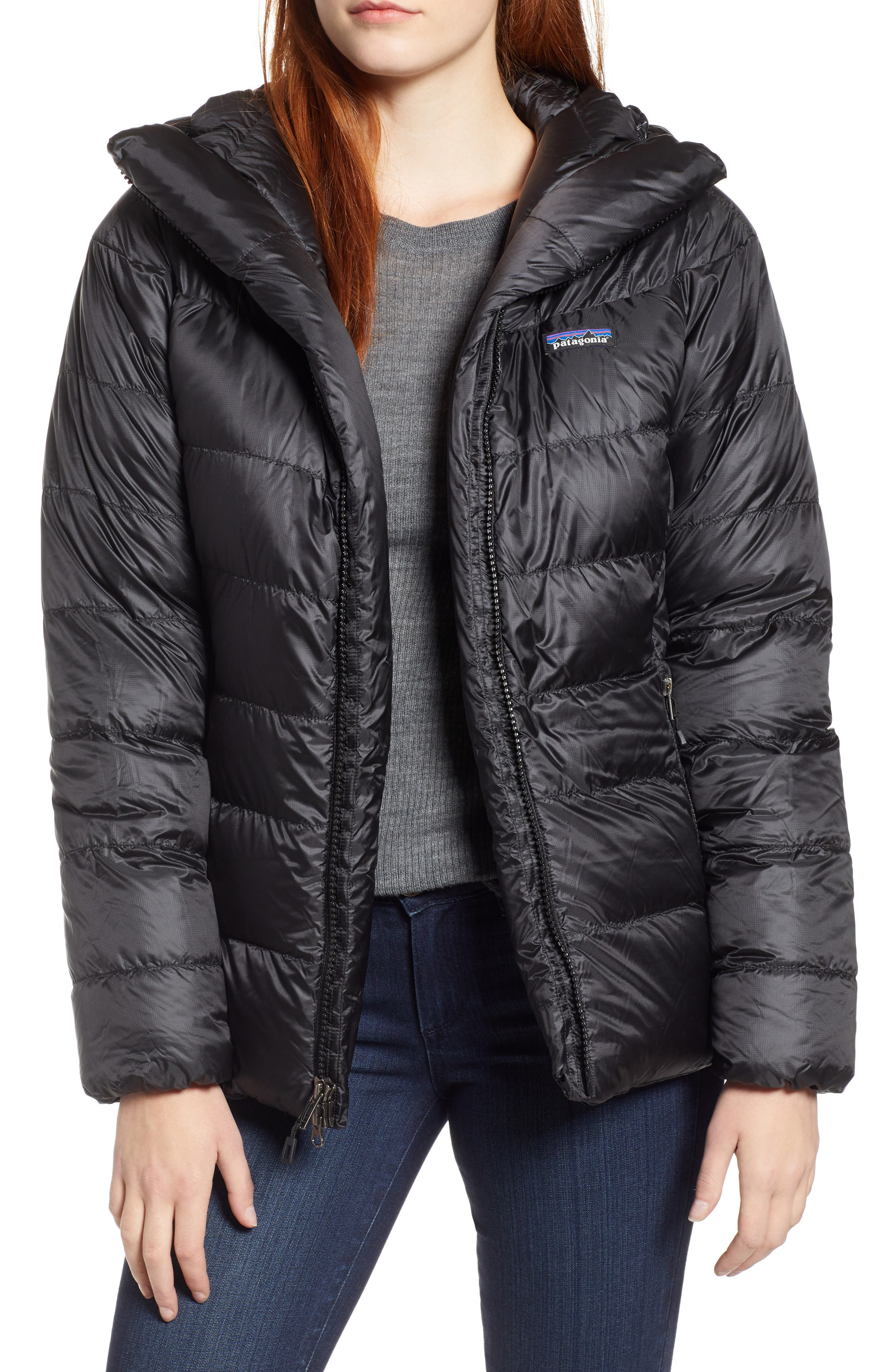Fitz Roy Water Repellent 800-Fill-Power Down Parka,                             Main thumbnail 1, color,                             BLACK