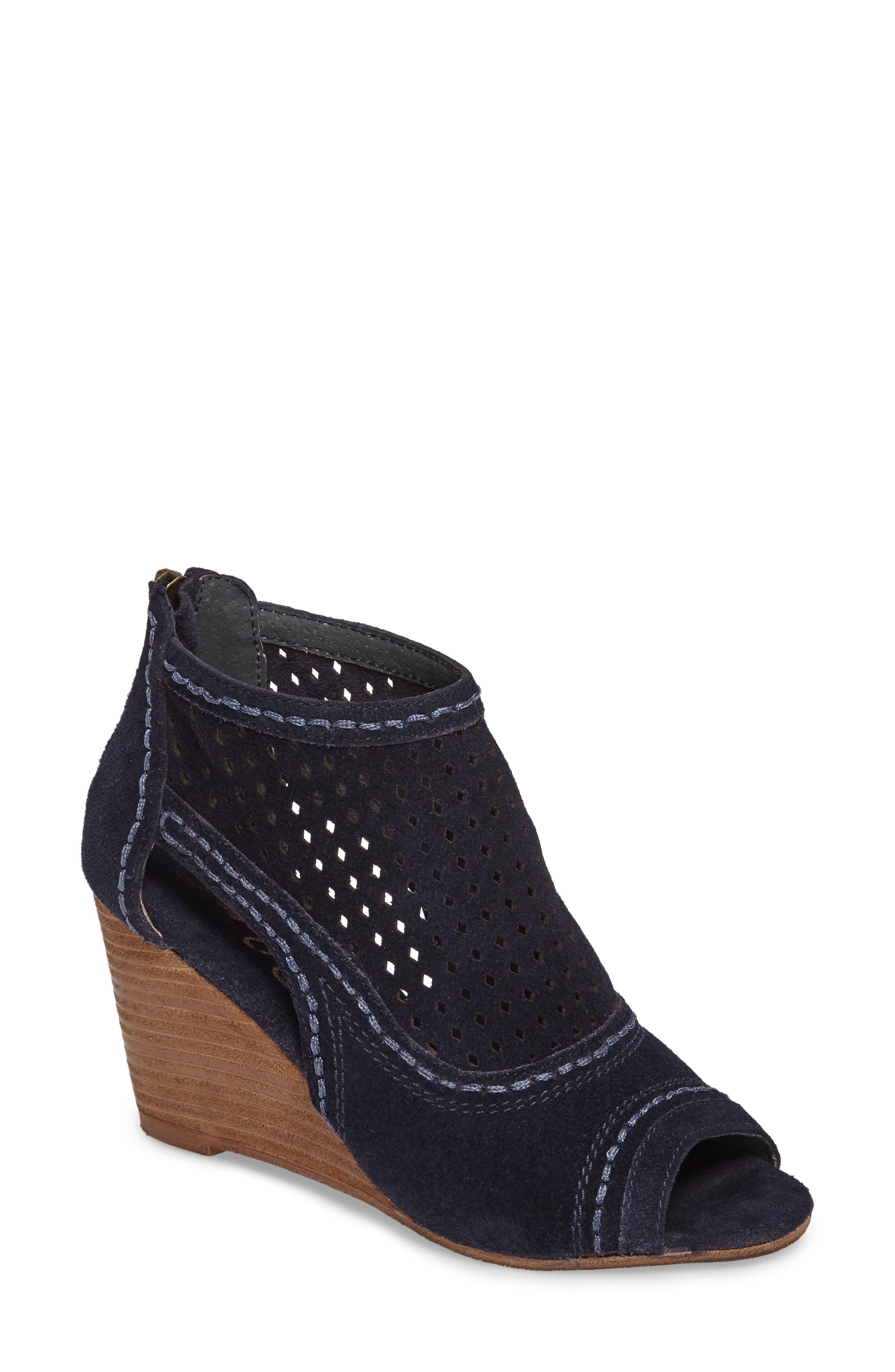 Sharon Perforated Wedge Sandal,                             Main thumbnail 2, color,
