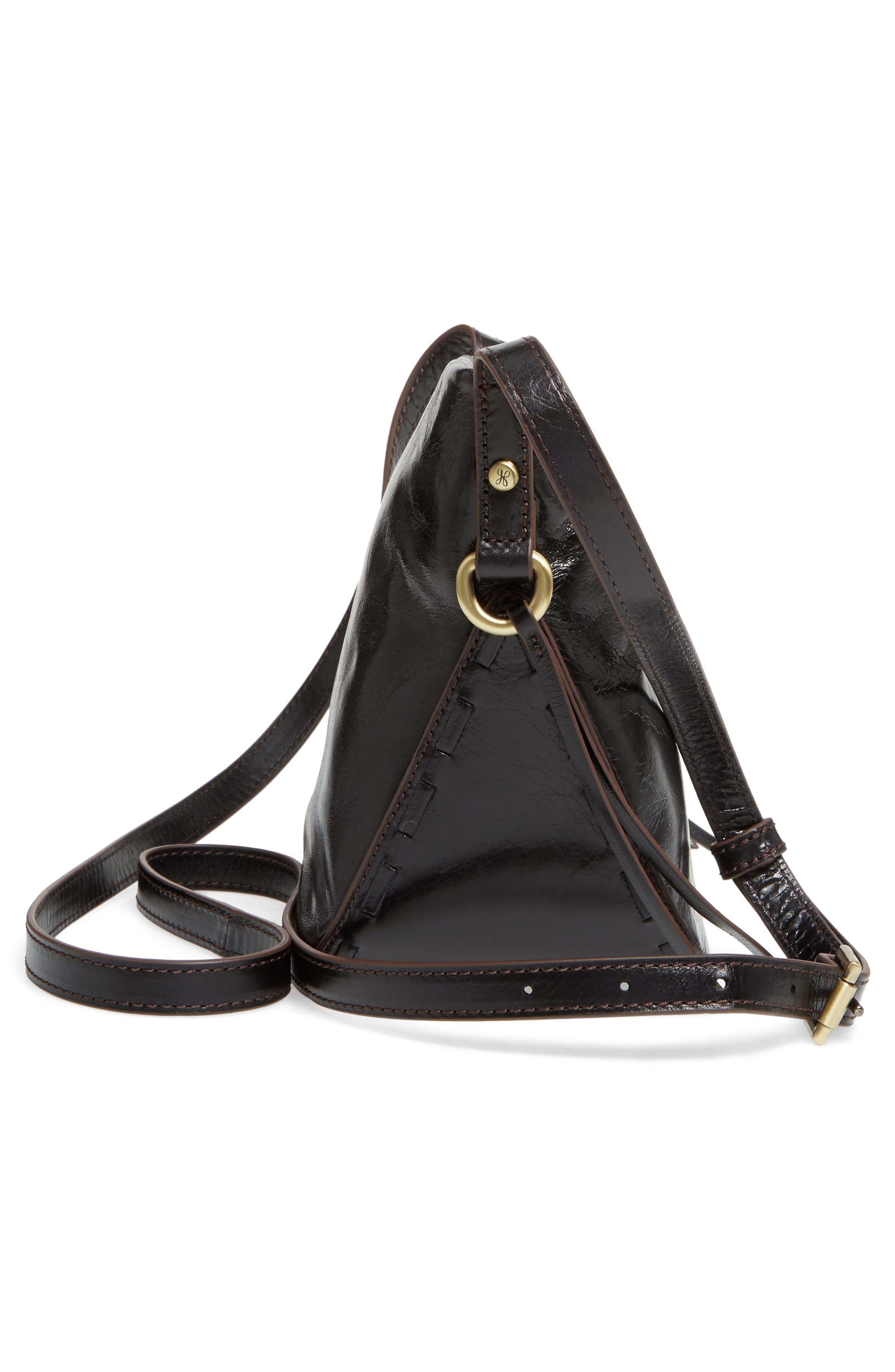 Muse Calfskin Leather Crossbody Bag,                             Alternate thumbnail 5, color,                             001