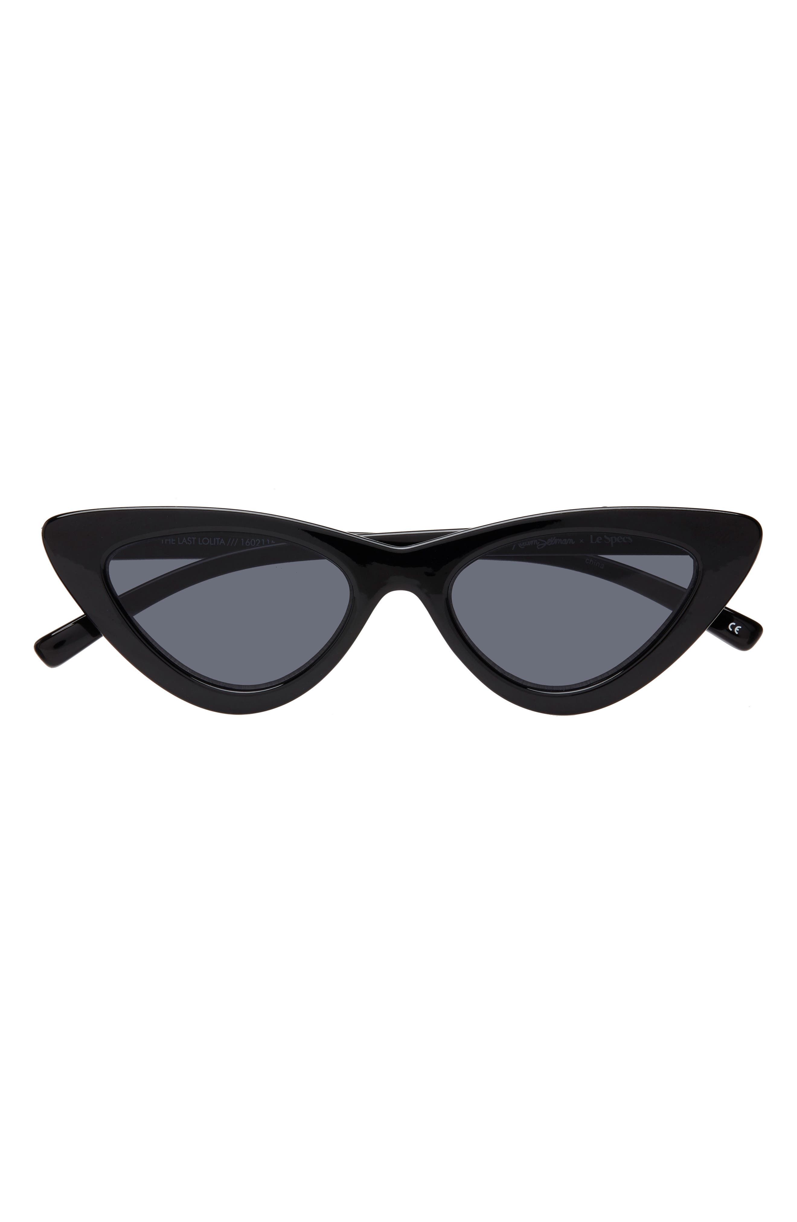 Lolita 49mm Cat Eye Sunglasses,                             Main thumbnail 1, color,                             BLACK