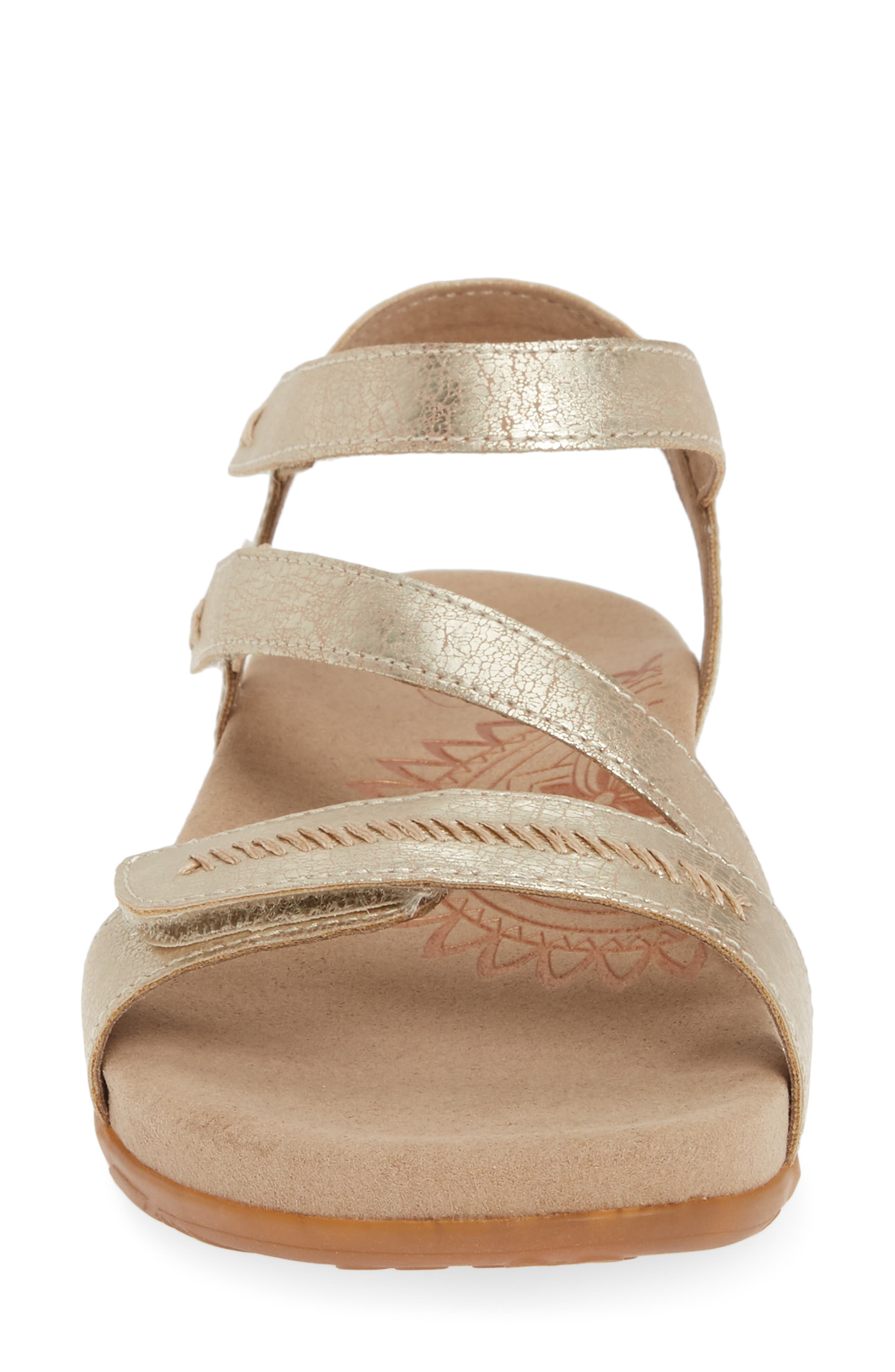 AETREX,                             Gabby Sandal,                             Alternate thumbnail 4, color,                             GOLD LEATHER