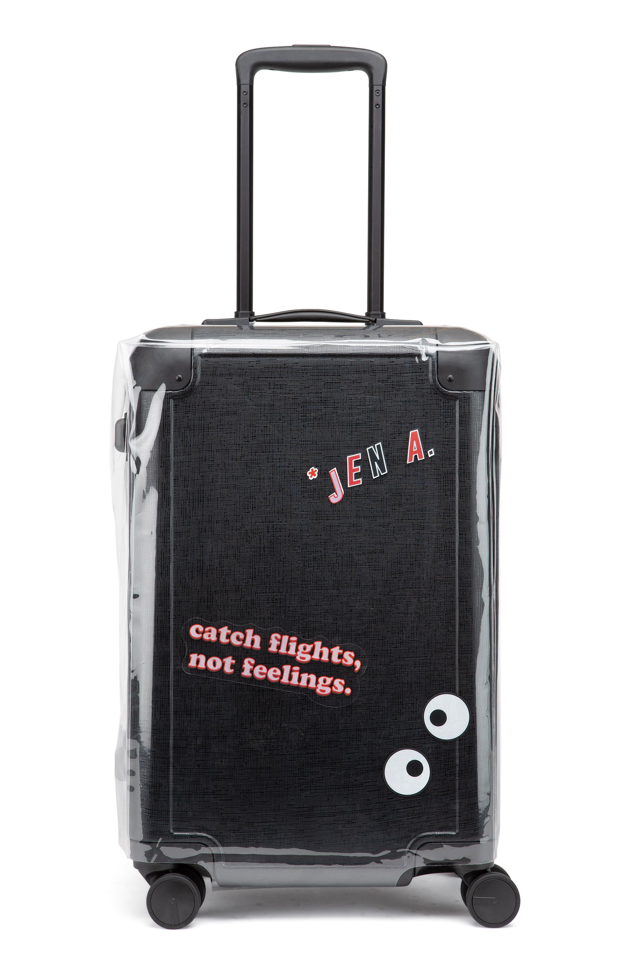 x Jen Atkin 22-Inch Carry-On Suitcase,                             Alternate thumbnail 7, color,                             BLACK