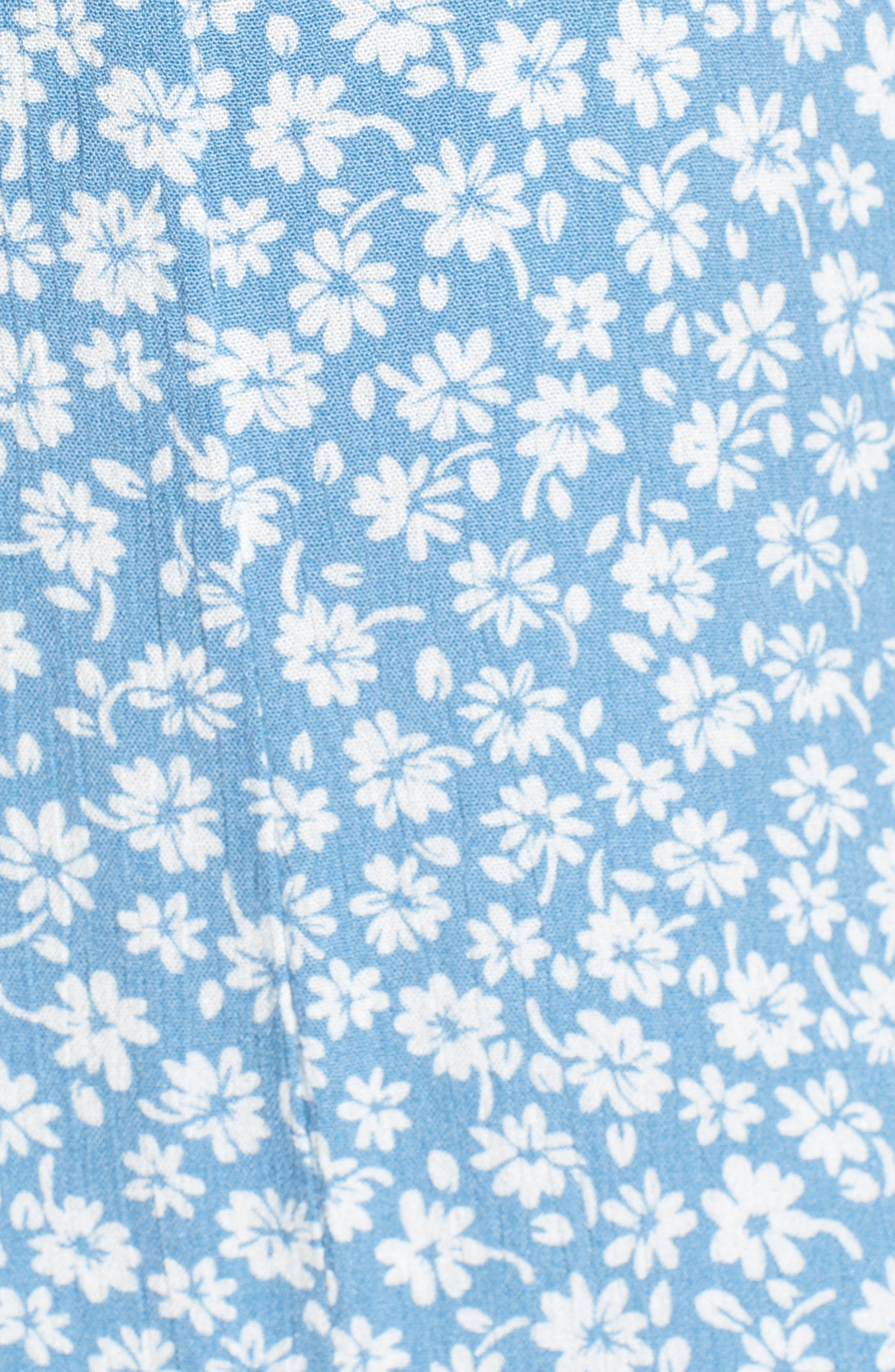 Floral Button Front Dress,                             Alternate thumbnail 6, color,
