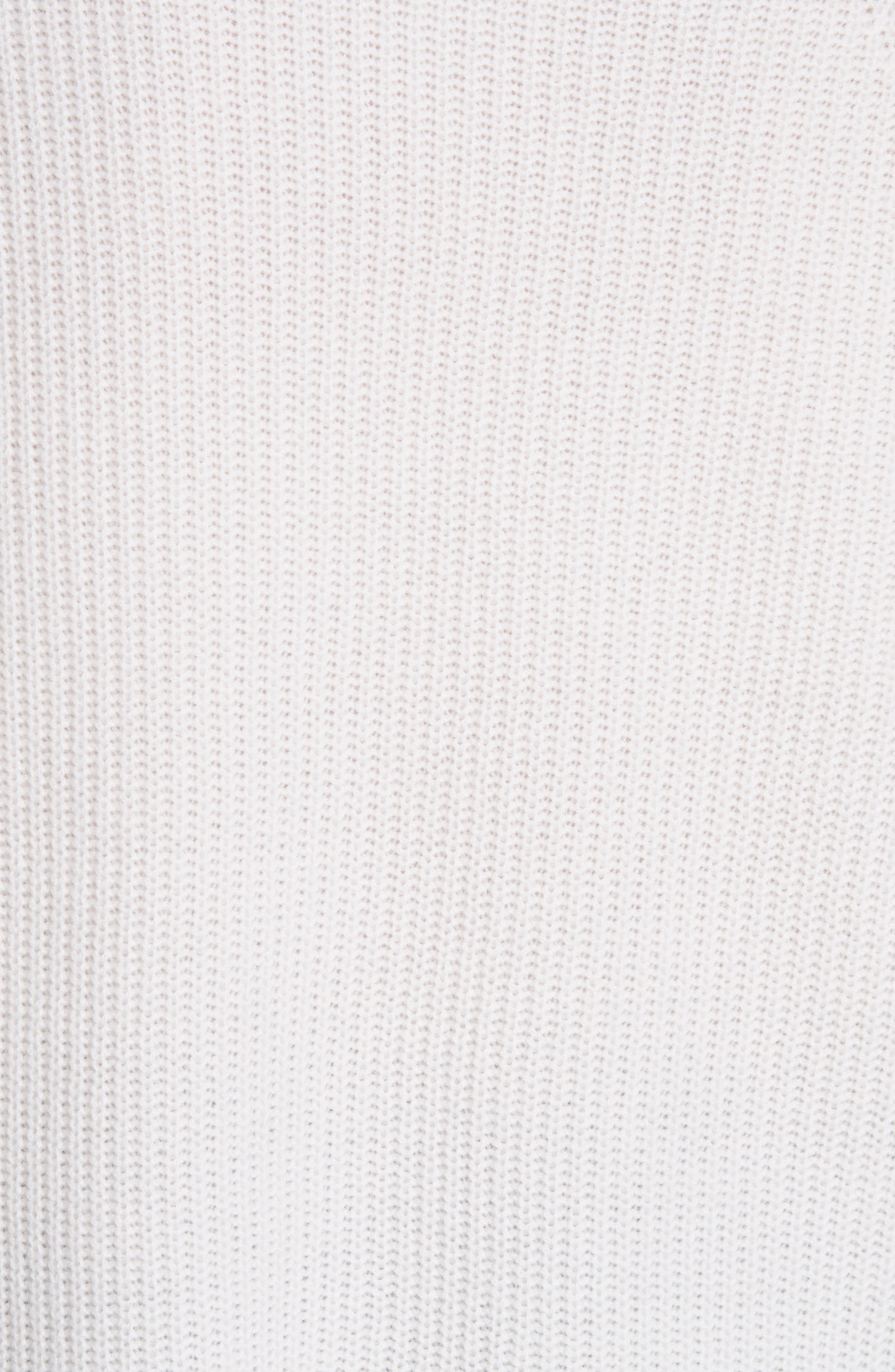 Fisherman Crewneck Cashmere Sweater,                             Alternate thumbnail 5, color,                             IVORY