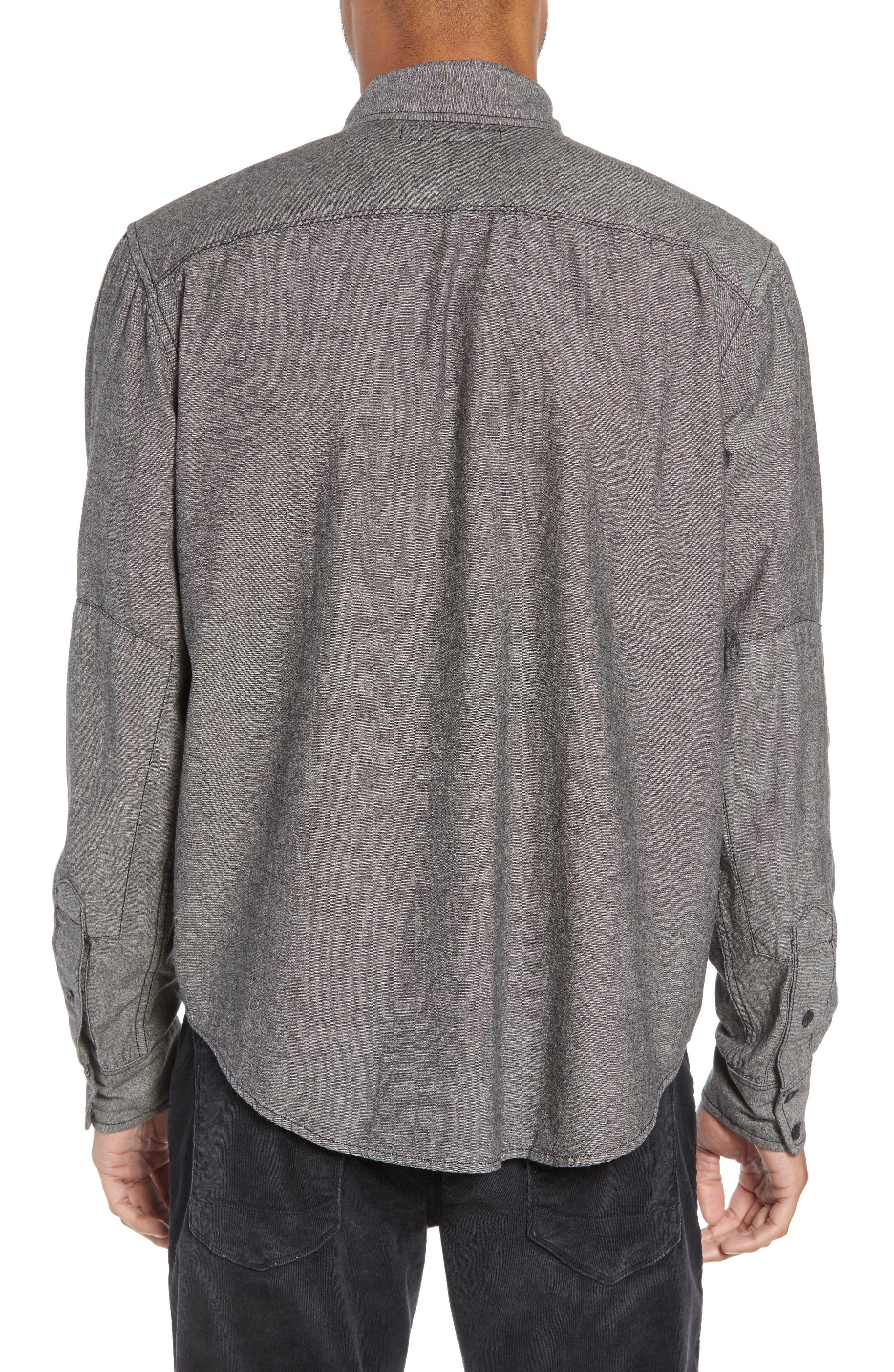 Hudson Regular Fit Chambray Sport Shirt,                             Alternate thumbnail 2, color,                             035