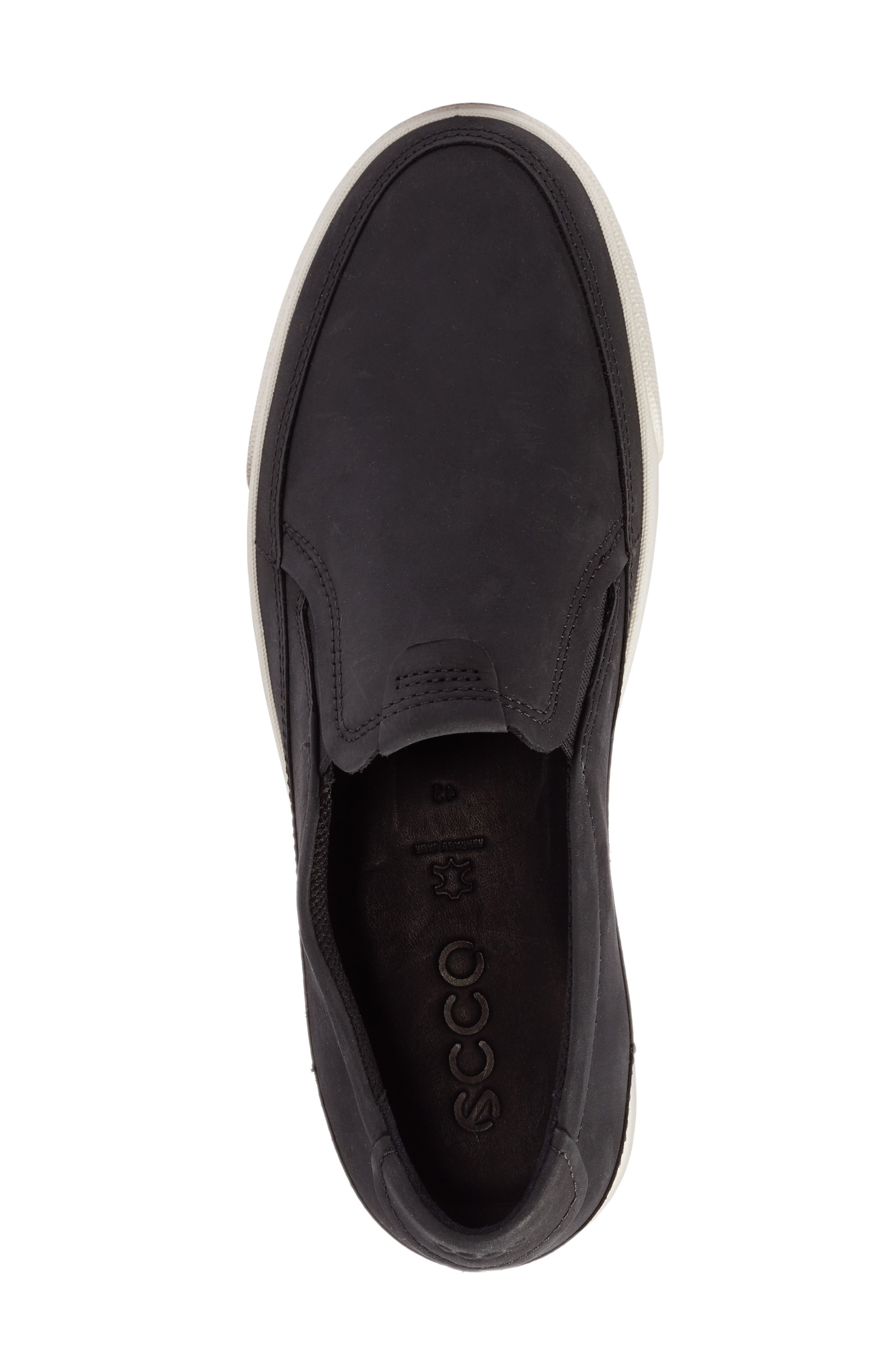 ECCO,                             'Gary' Slip-On,                             Alternate thumbnail 5, color,                             001