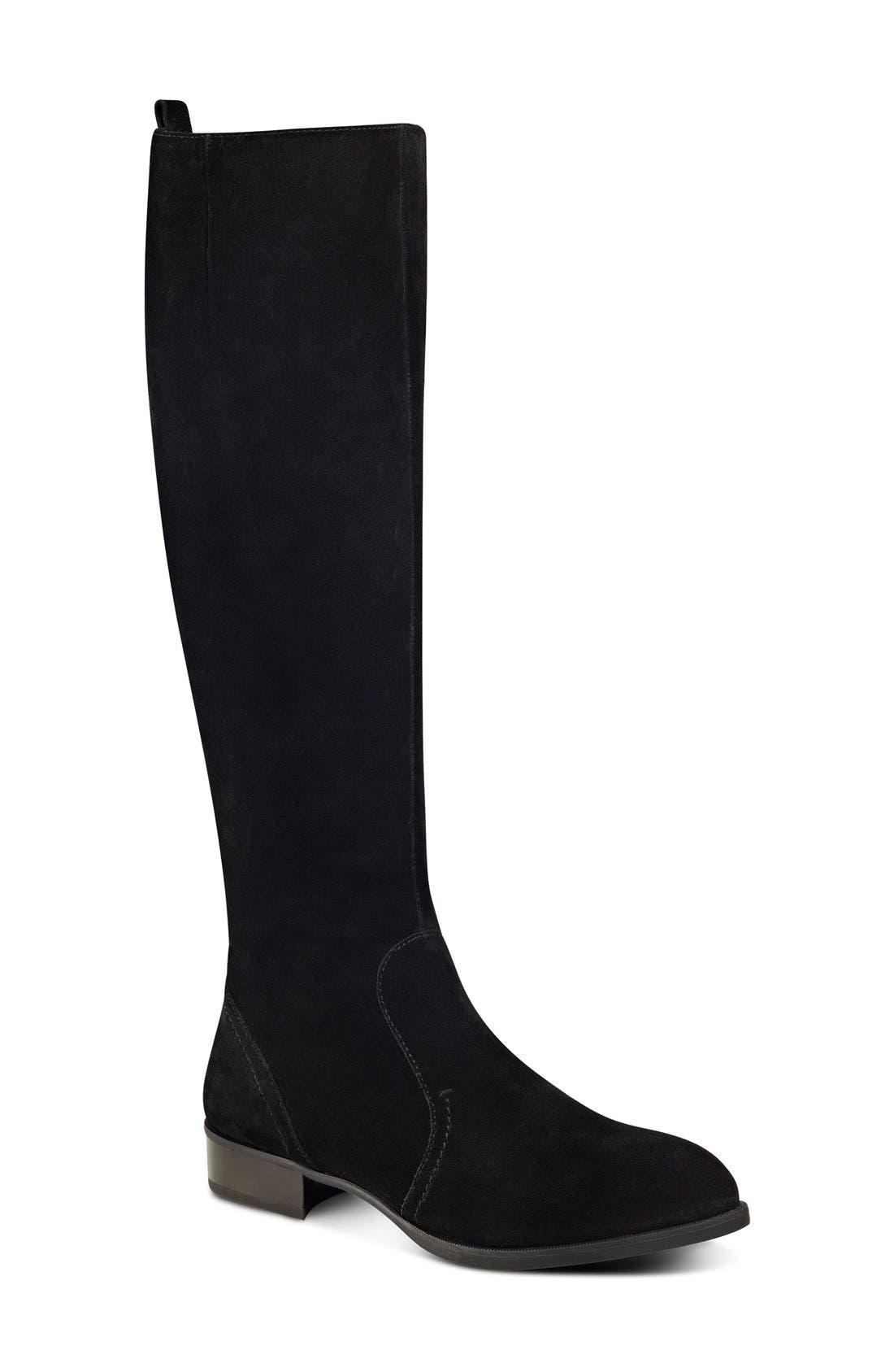 NINE WEST 'Nicolah' Tall Boot, Main, color, 001