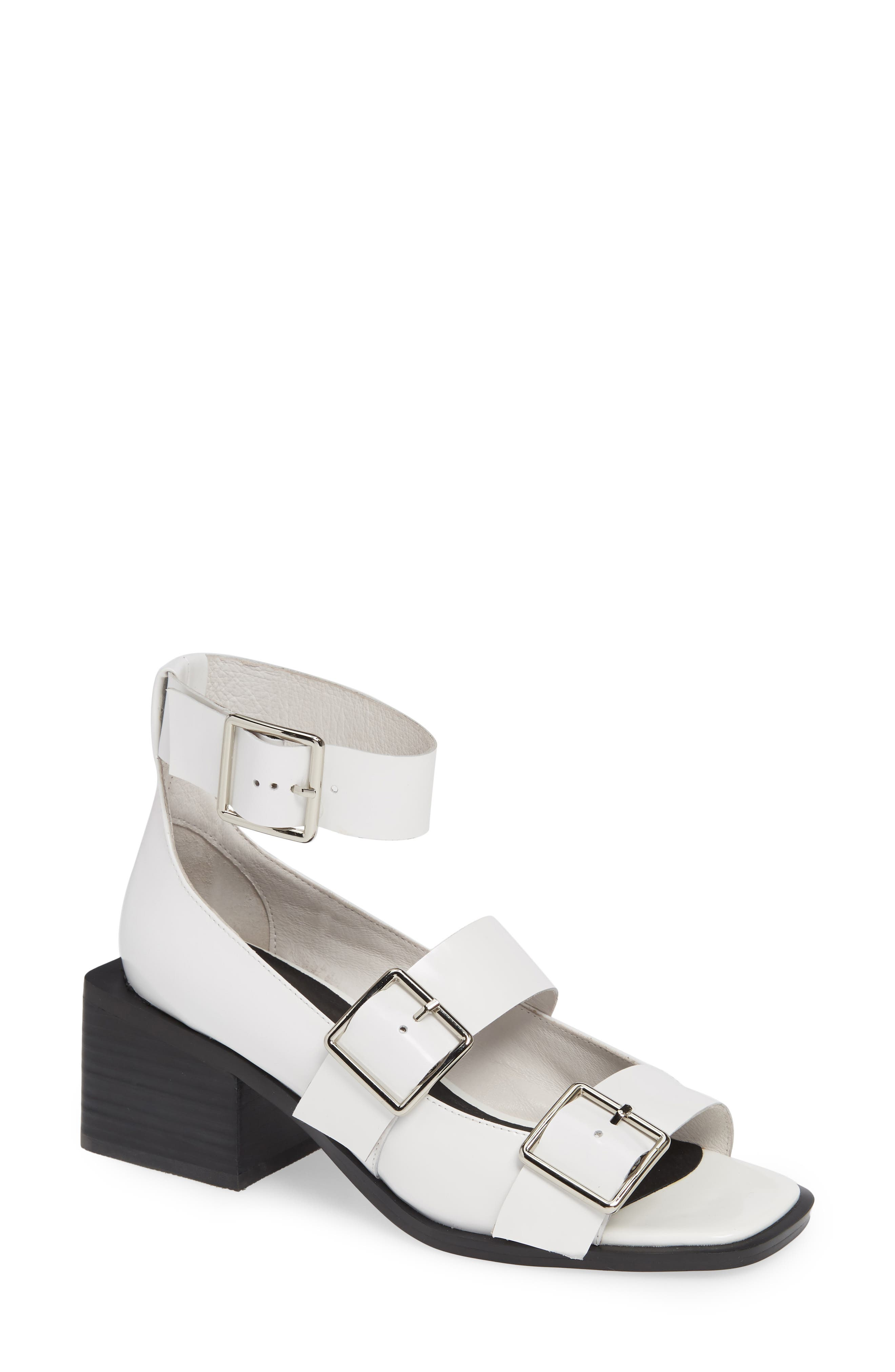 Jeffrey Campbell Aspinal Ankle Strap Sandal, White