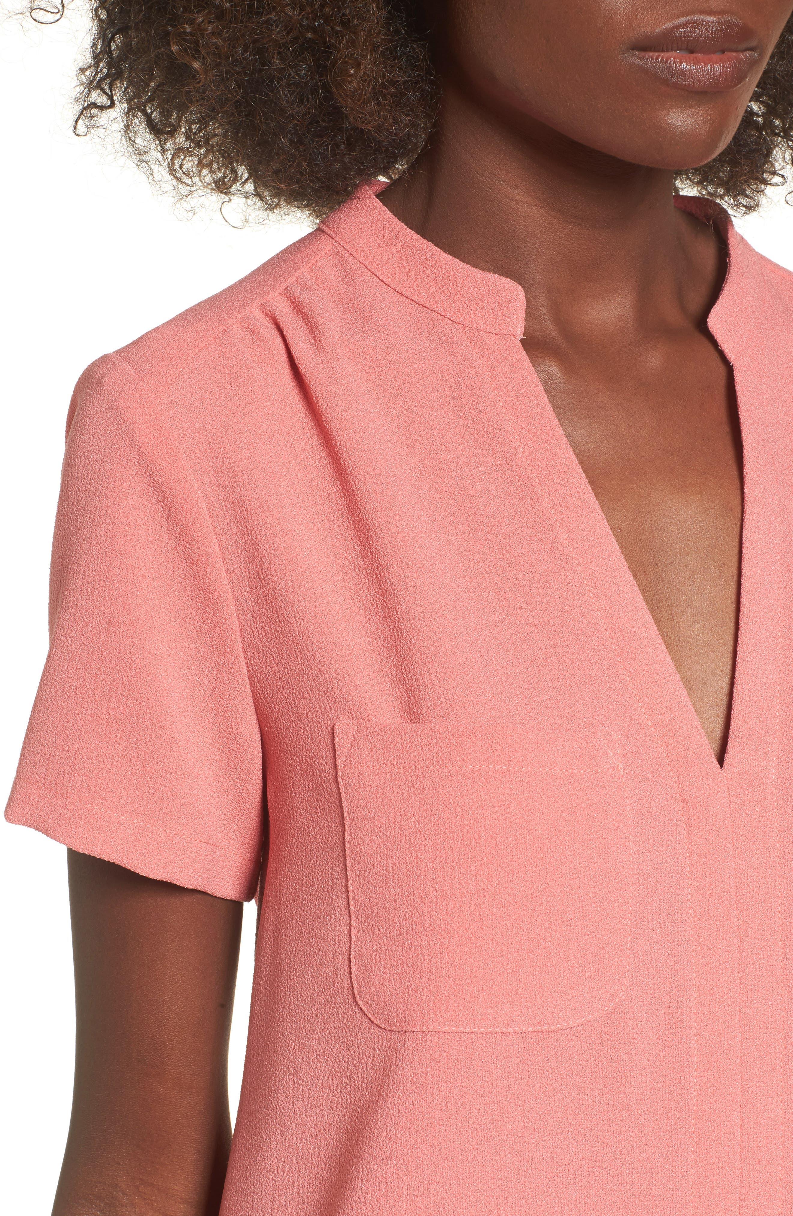 Hailey Crepe Dress,                             Alternate thumbnail 106, color,