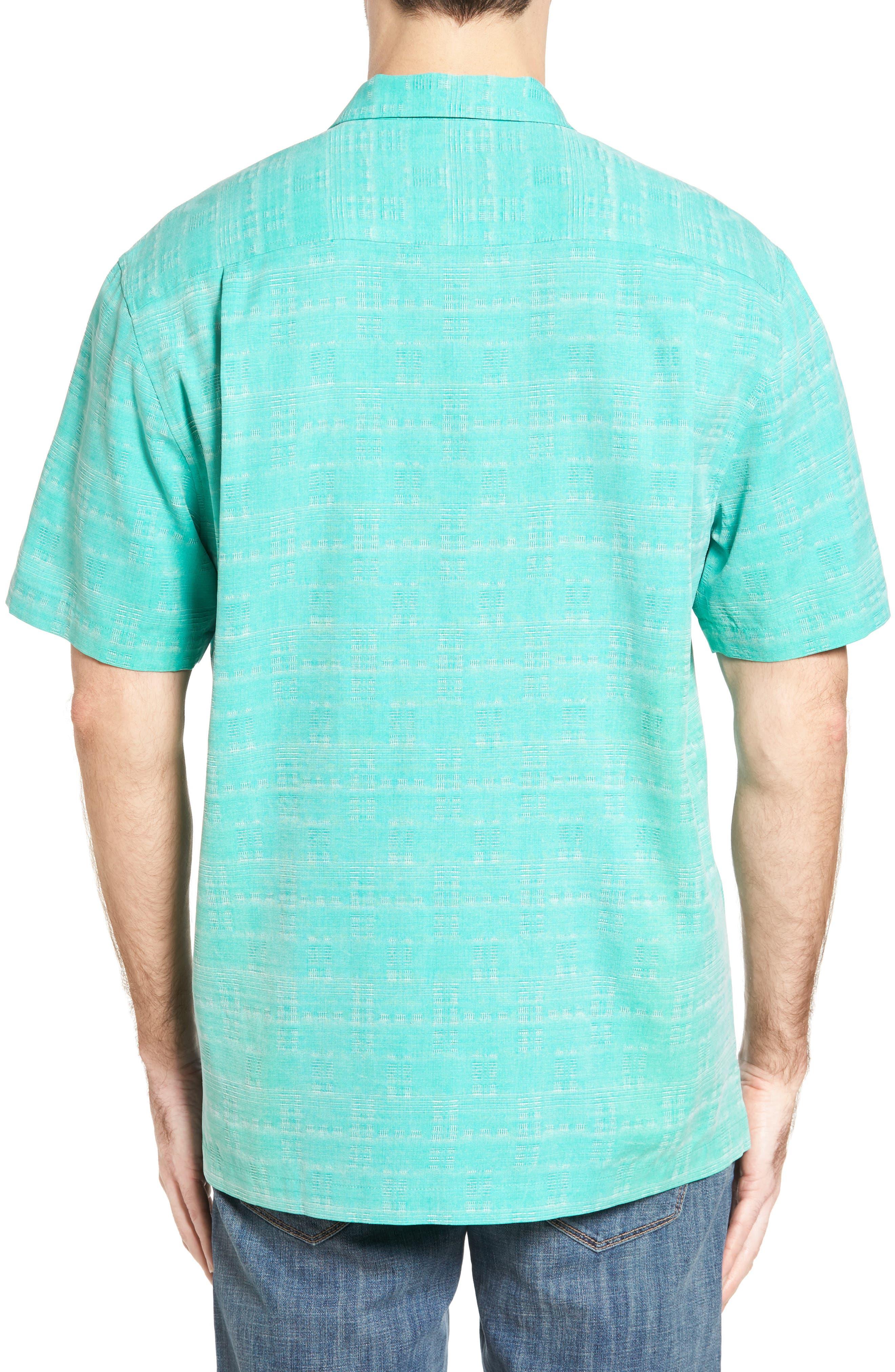 Original Fit Jacquard Silk Camp Shirt,                             Alternate thumbnail 9, color,