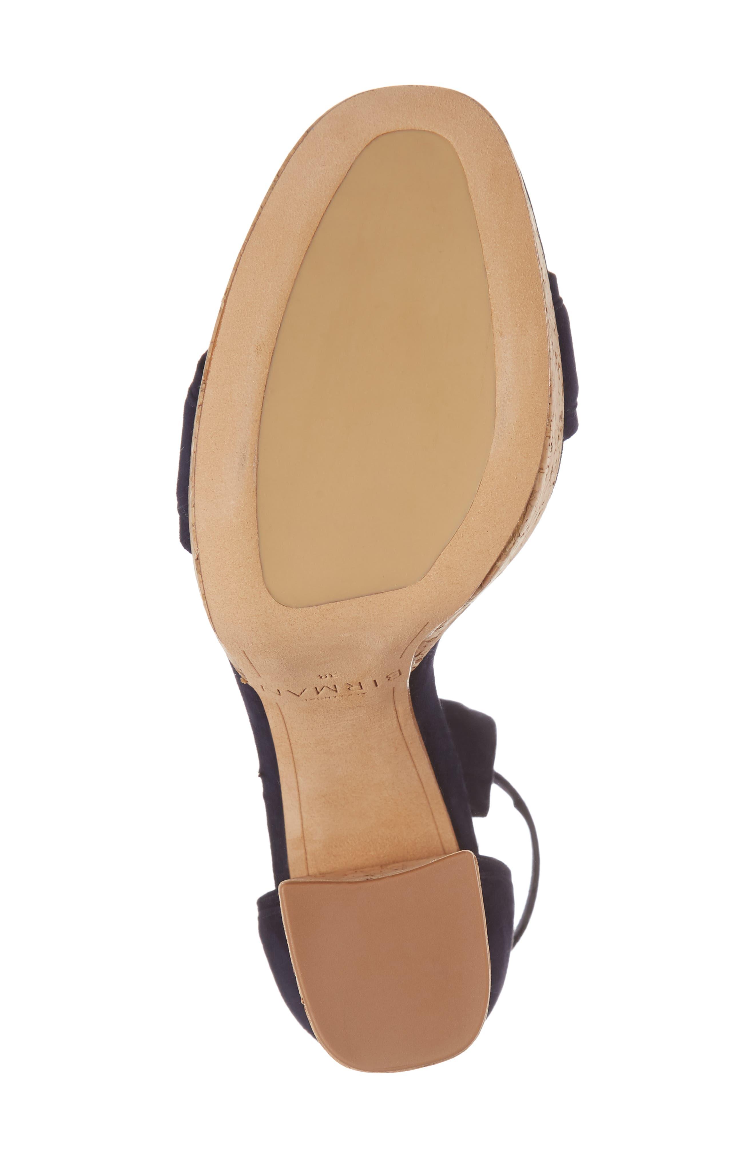 Celine Ankle Tie Platform Sandal,                             Alternate thumbnail 6, color,                             400