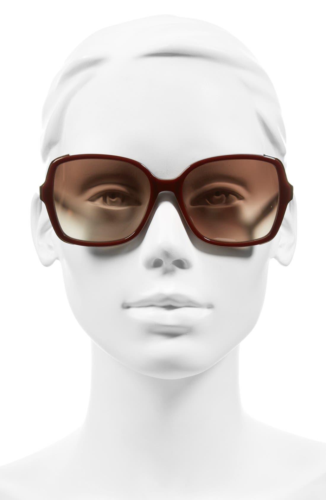 'The Alice' 57mm Sunglasses,                             Alternate thumbnail 8, color,