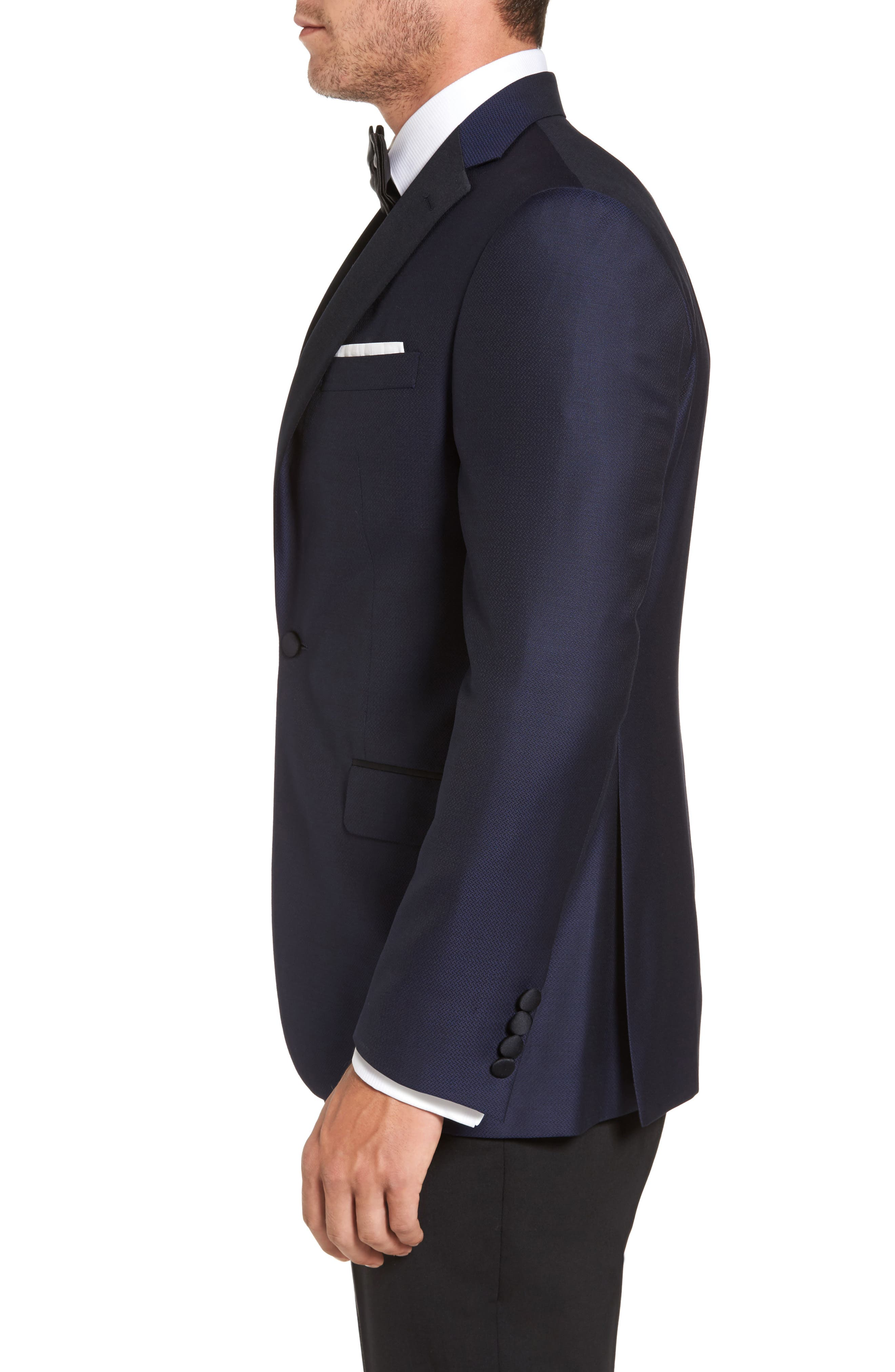 Reed Classic Fit Dinner Jacket,                             Alternate thumbnail 3, color,                             001