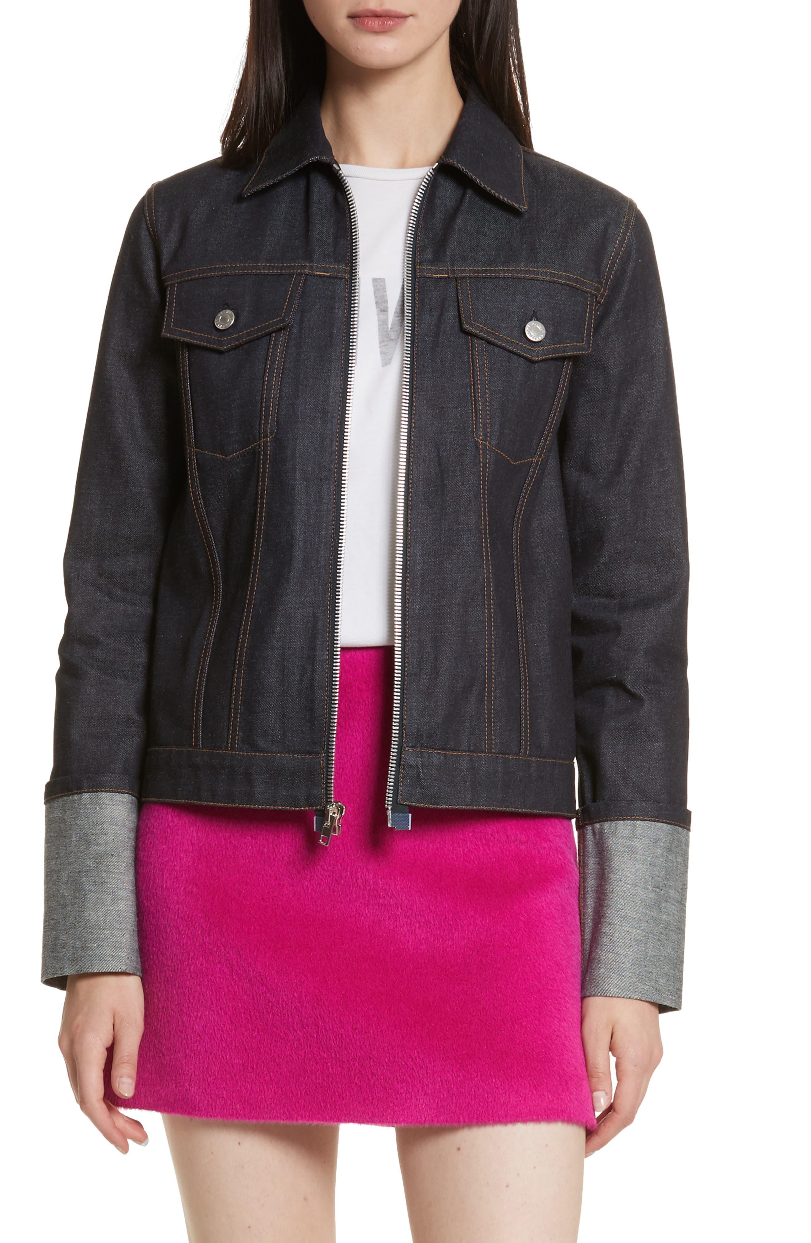 Re-Edition Zip Denim Jacket,                             Alternate thumbnail 7, color,                             401