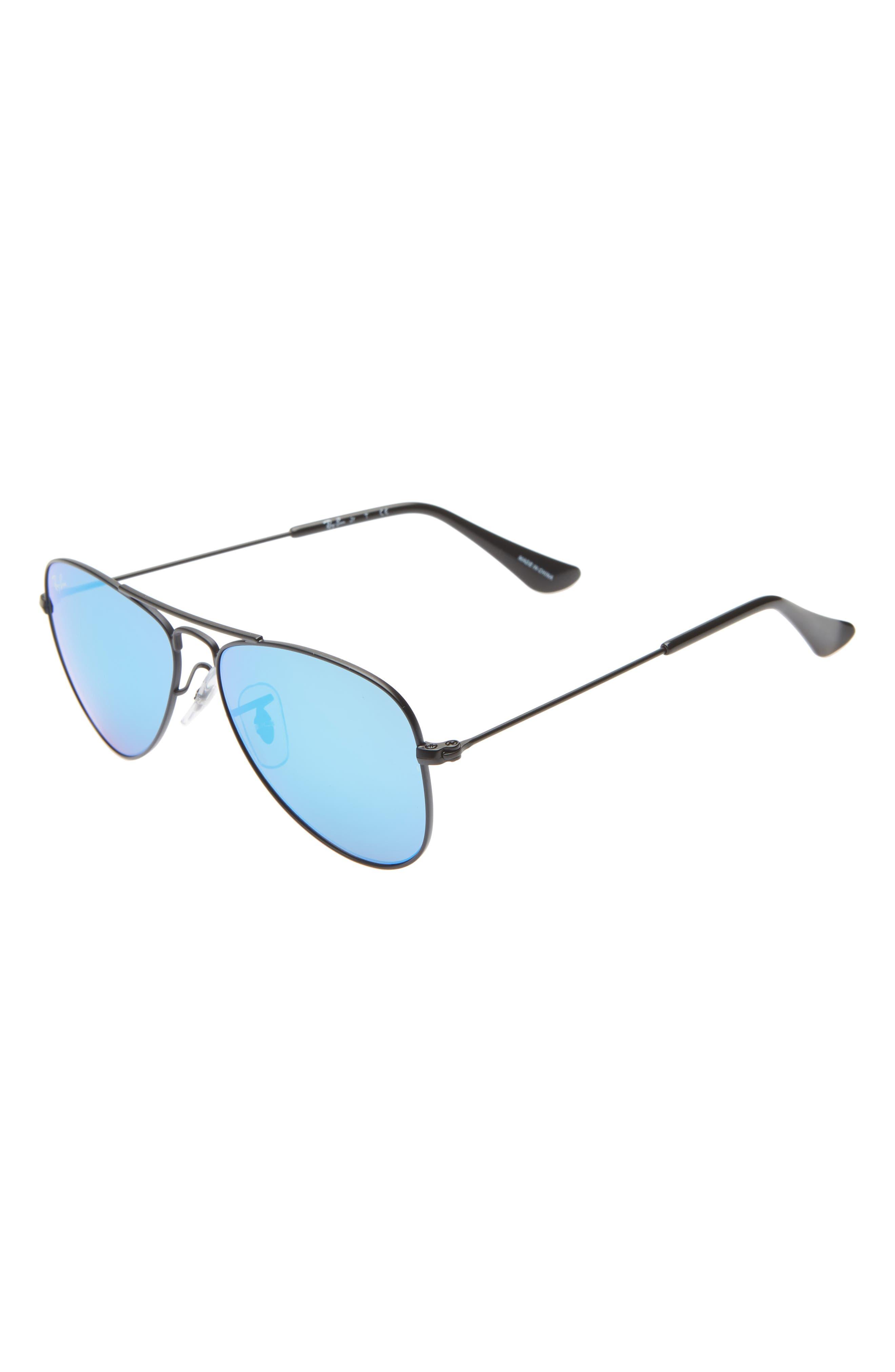 Junior 50mm Mirrored Aviator Sunglasses, Main, color, 001