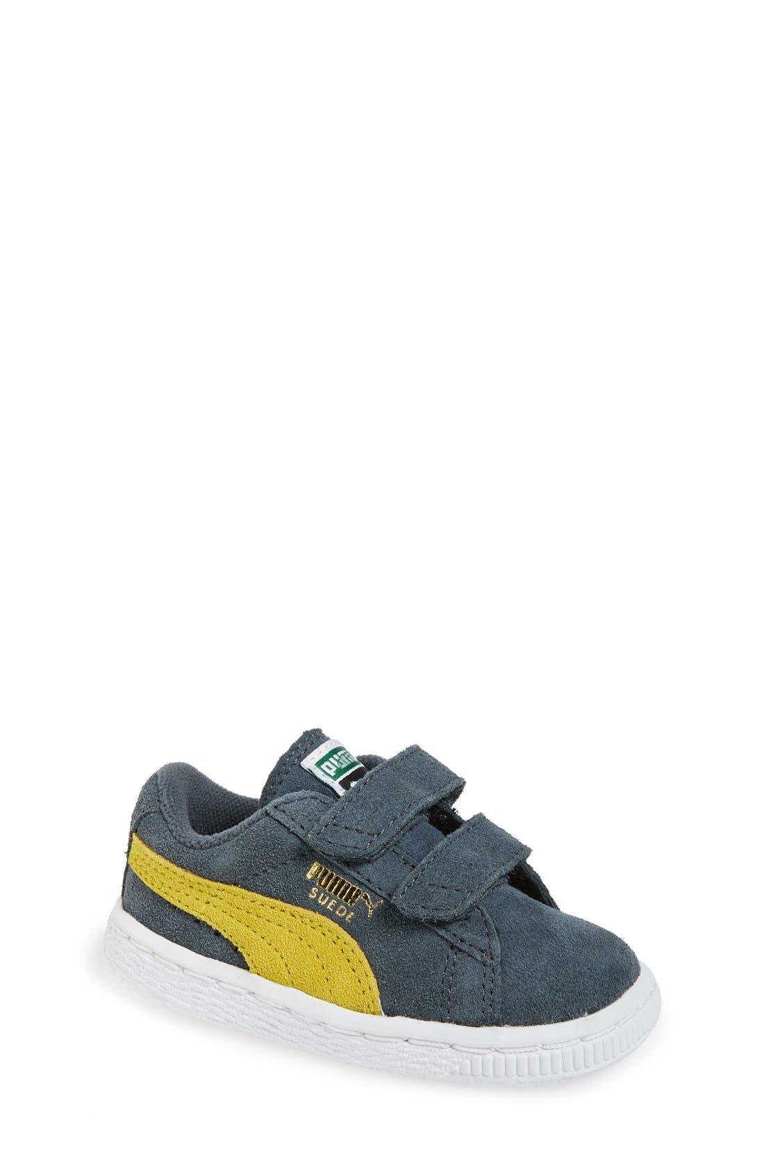 Suede Sneaker,                             Main thumbnail 3, color,