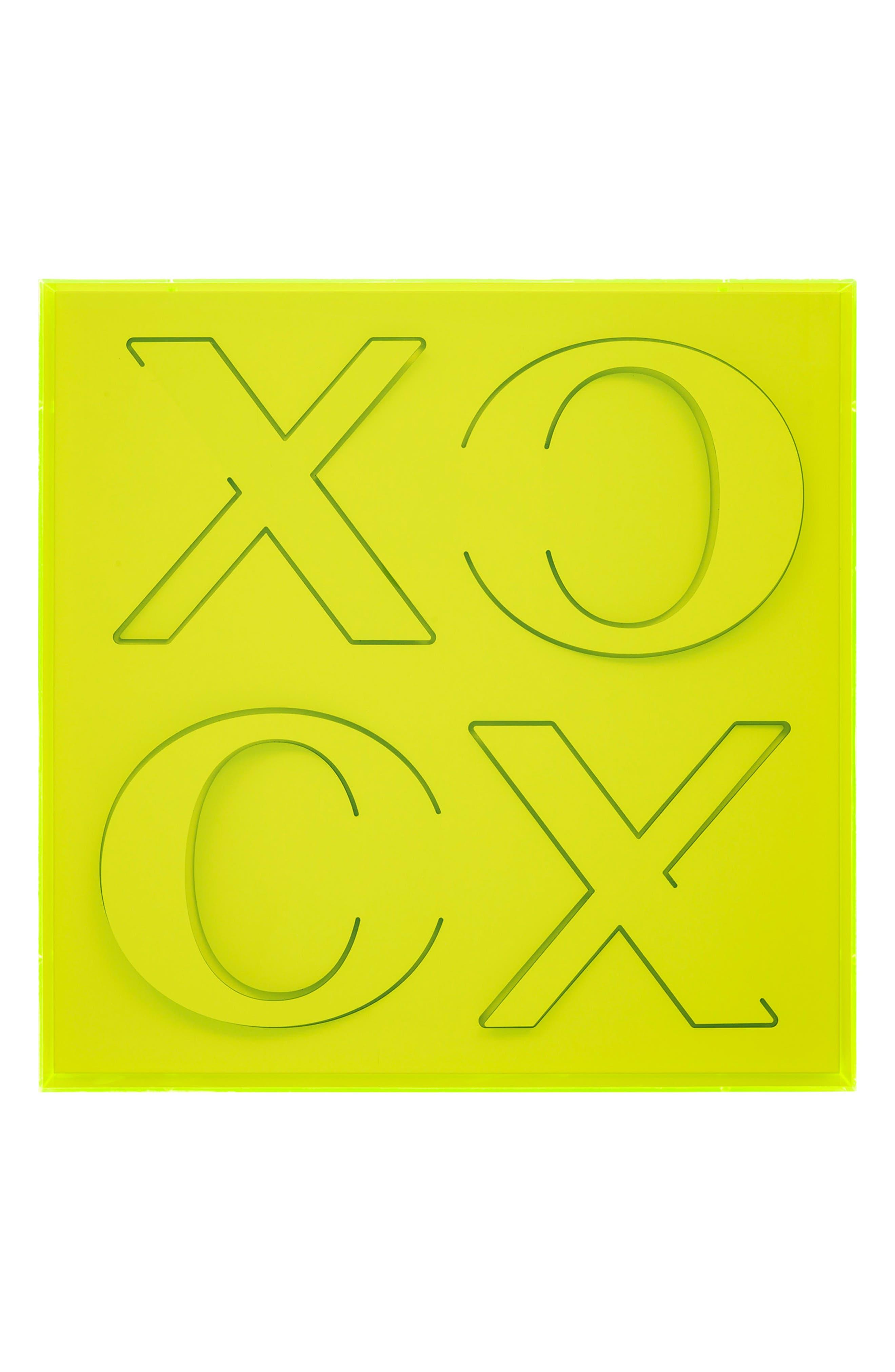 XOXO Wall Art,                             Main thumbnail 1, color,                             GREEN