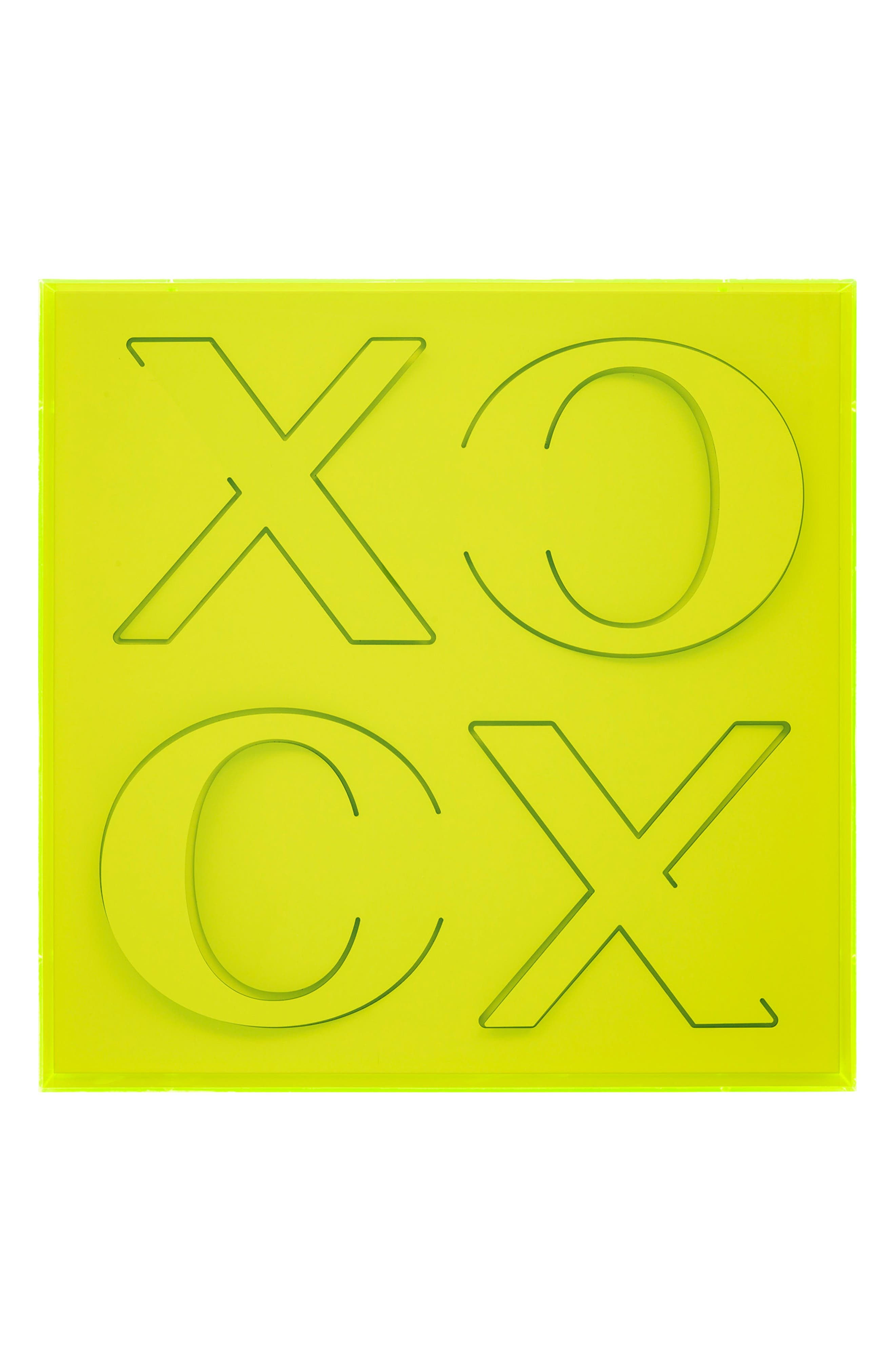XOXO Wall Art, Main, color, GREEN