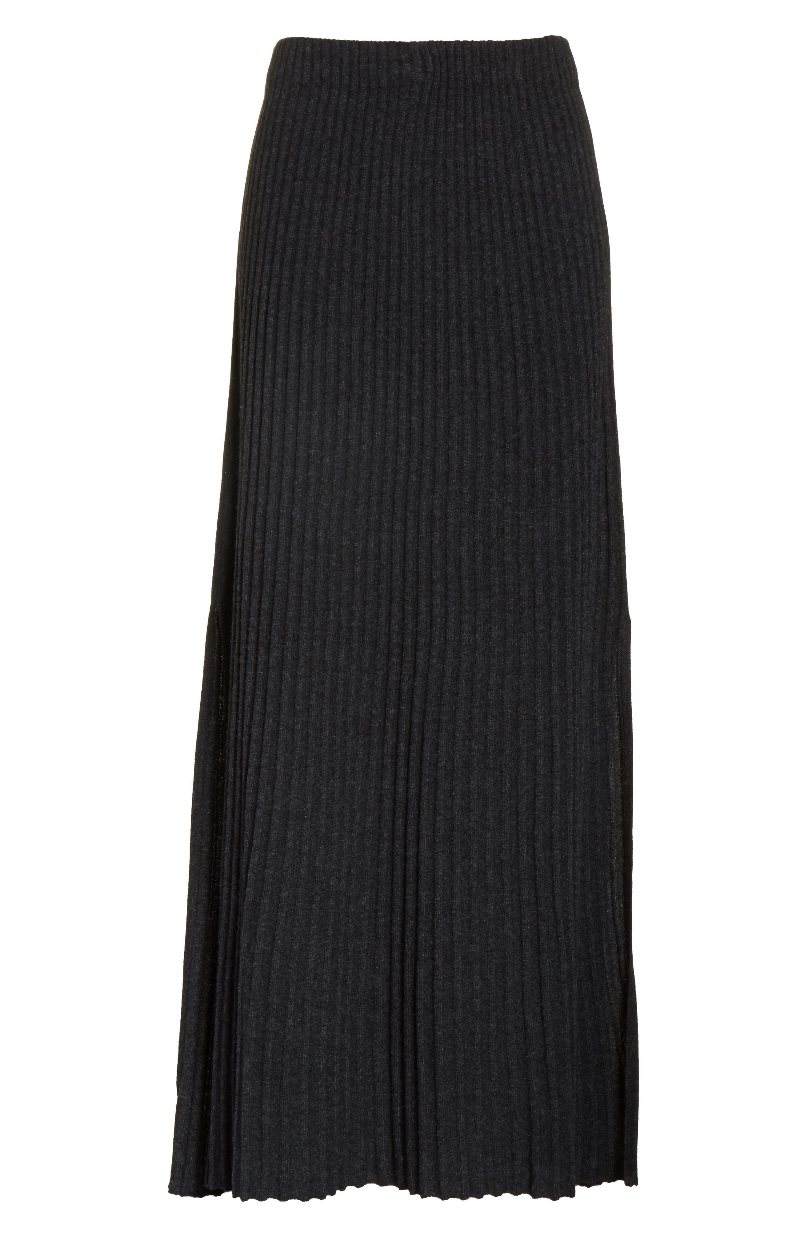 Joelle Rib Knit Maxi Skirt,                             Alternate thumbnail 6, color,                             020