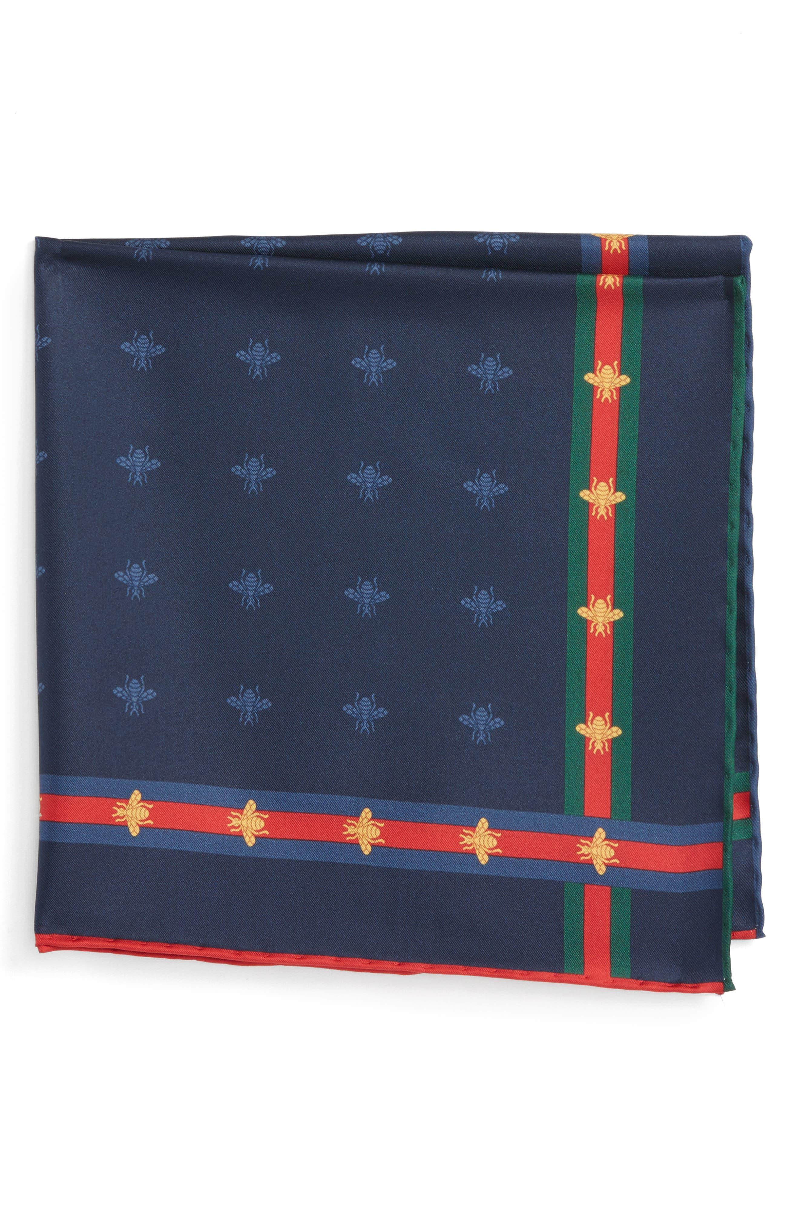 Runebis Silk Twill Pocket Square,                             Alternate thumbnail 7, color,
