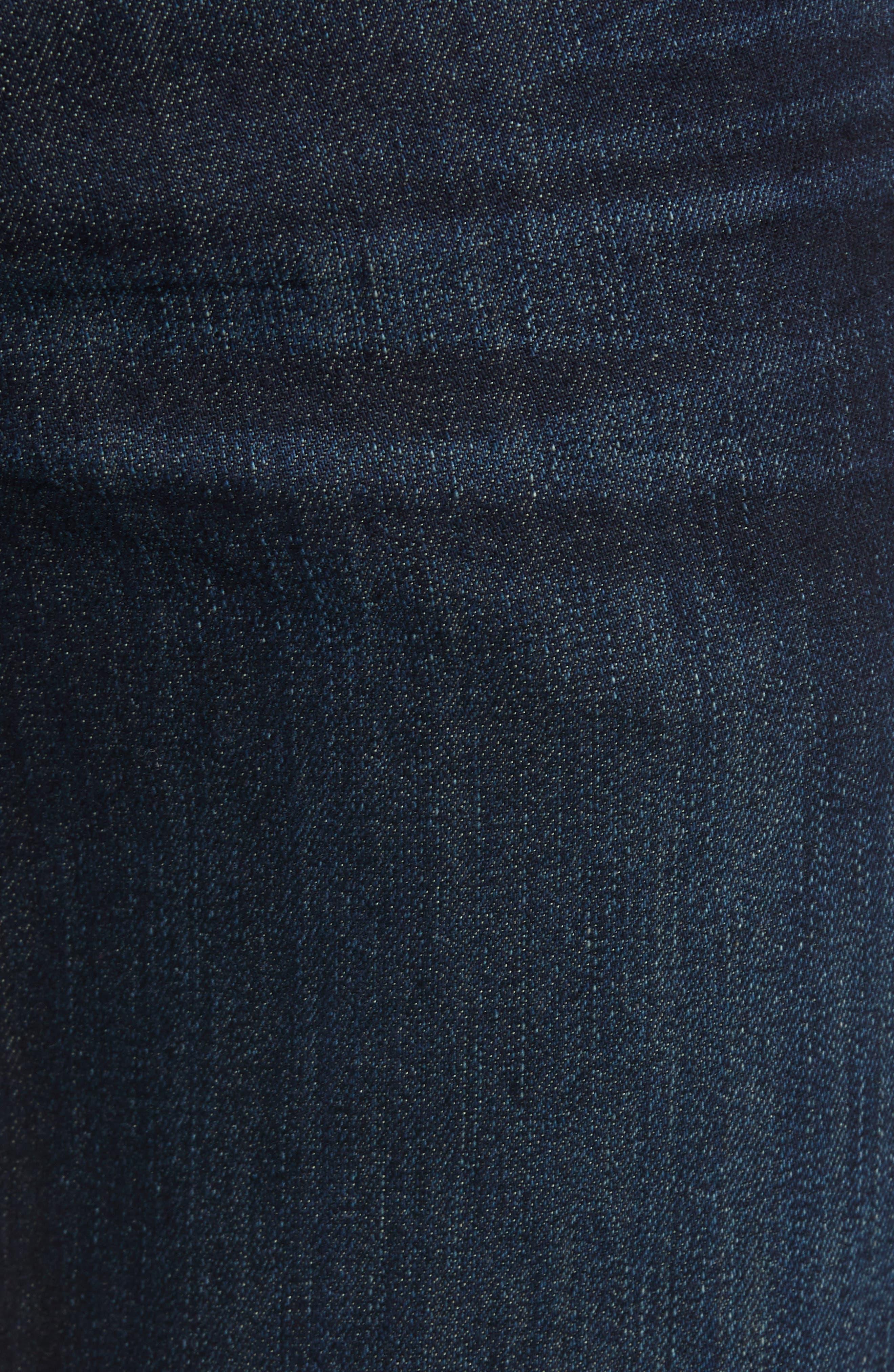 Airweft Standard Straight Leg Jeans,                             Alternate thumbnail 5, color,                             PERENNIAL