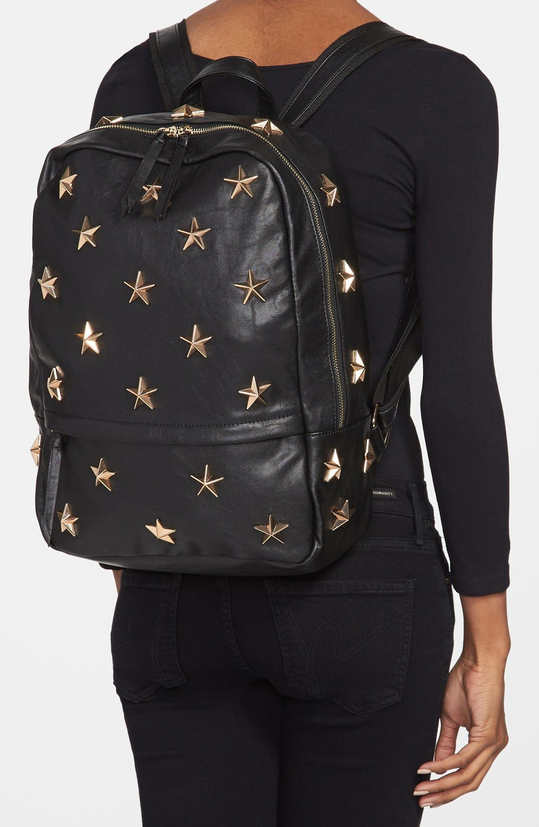 'Star' Stud Backpack,                             Alternate thumbnail 3, color,                             001