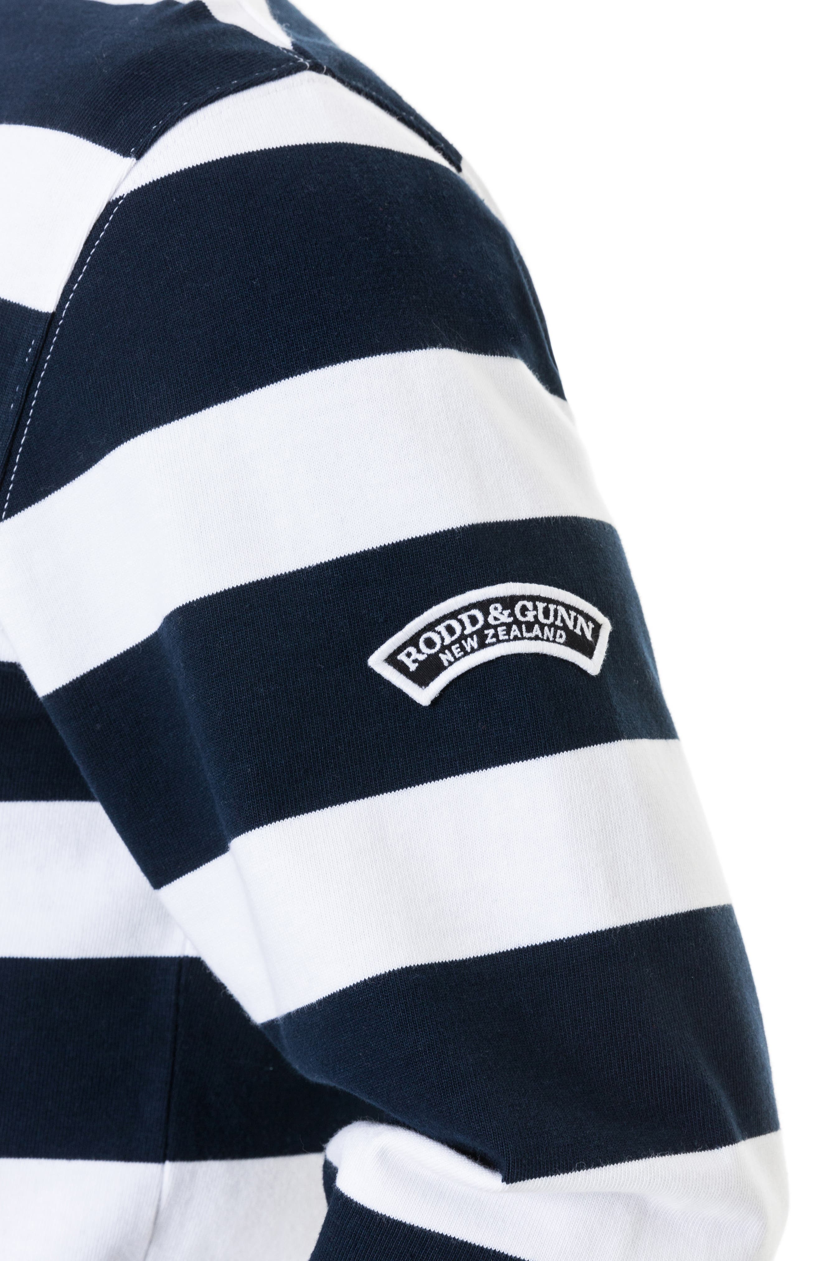 RODD & GUNN,                             Pakington Rugby Stripe Polo,                             Alternate thumbnail 5, color,                             MARINE