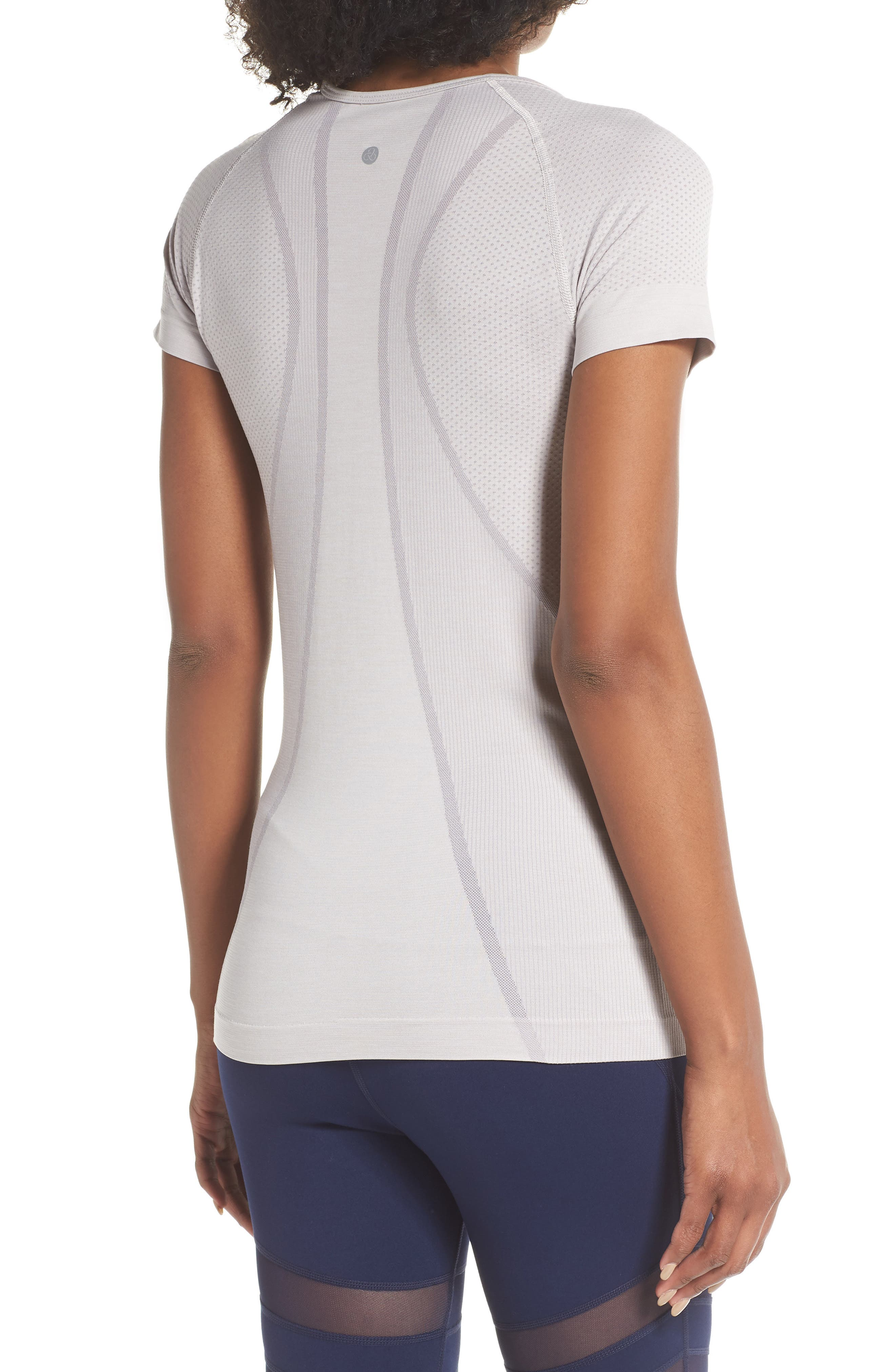 Stand Out Seamless Training Tee,                             Alternate thumbnail 2, color,                             GREY BIRD