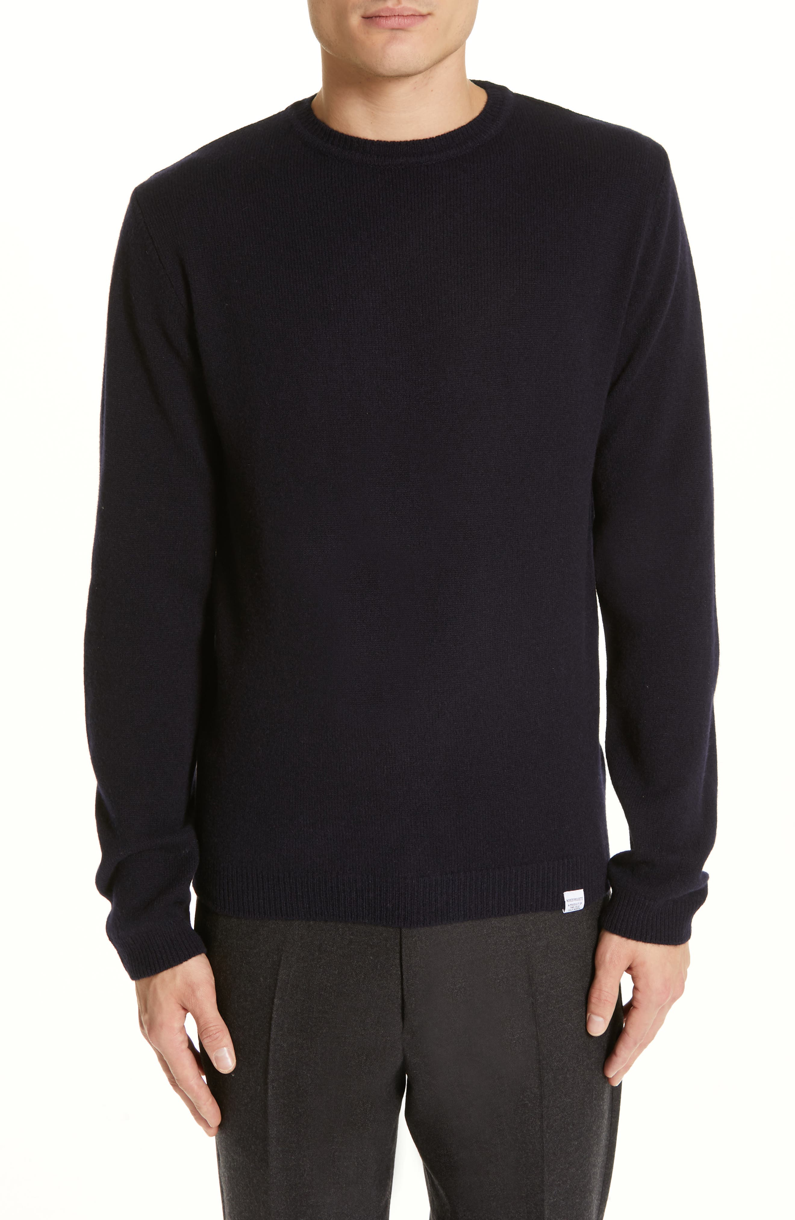 NORSE PROJECTS Sigfred Lambswool Sweater in Dark Navy