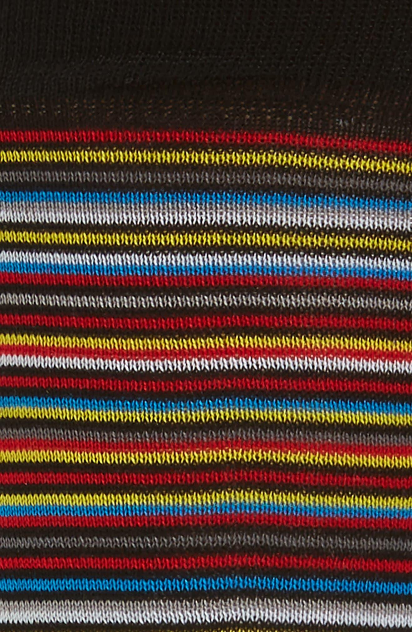 Multi Stripe Socks,                             Alternate thumbnail 2, color,                             001