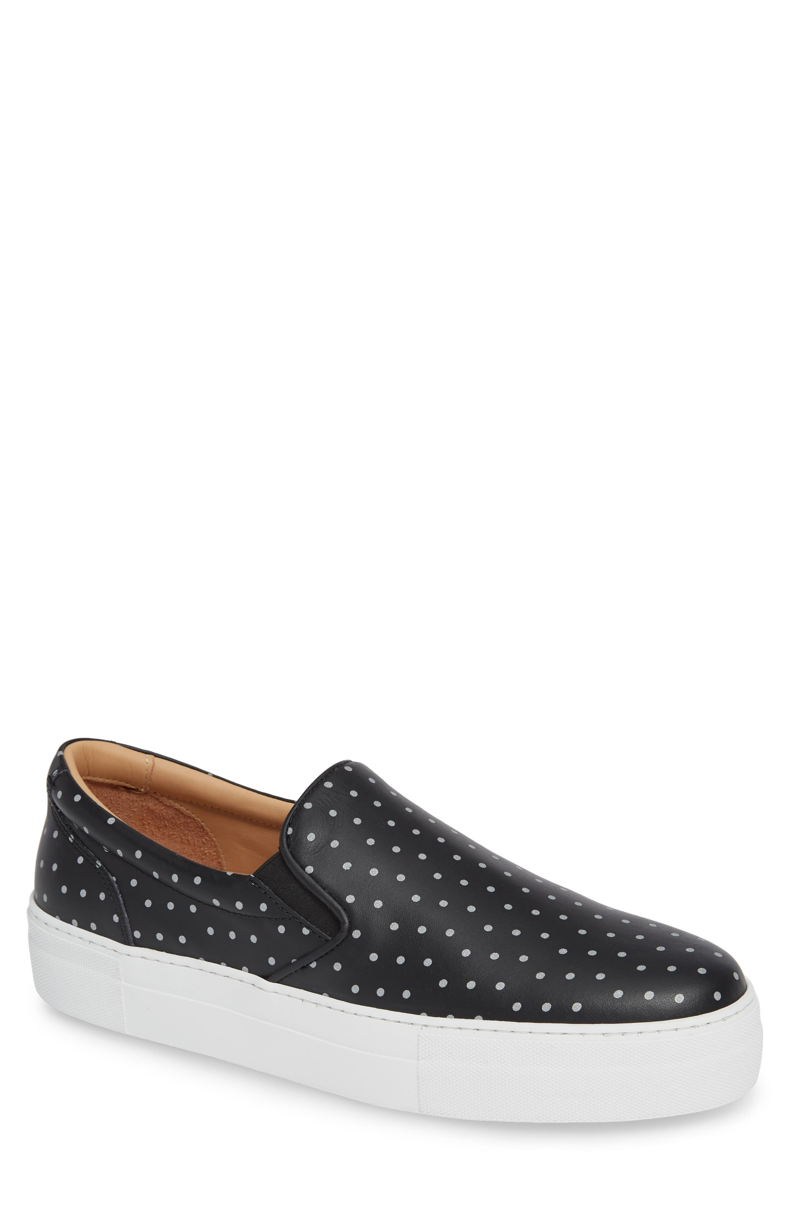 Nick Wooster x GREATS Slip-On Sneaker,                             Main thumbnail 1, color,                             BLACK W/ 3M DOTS