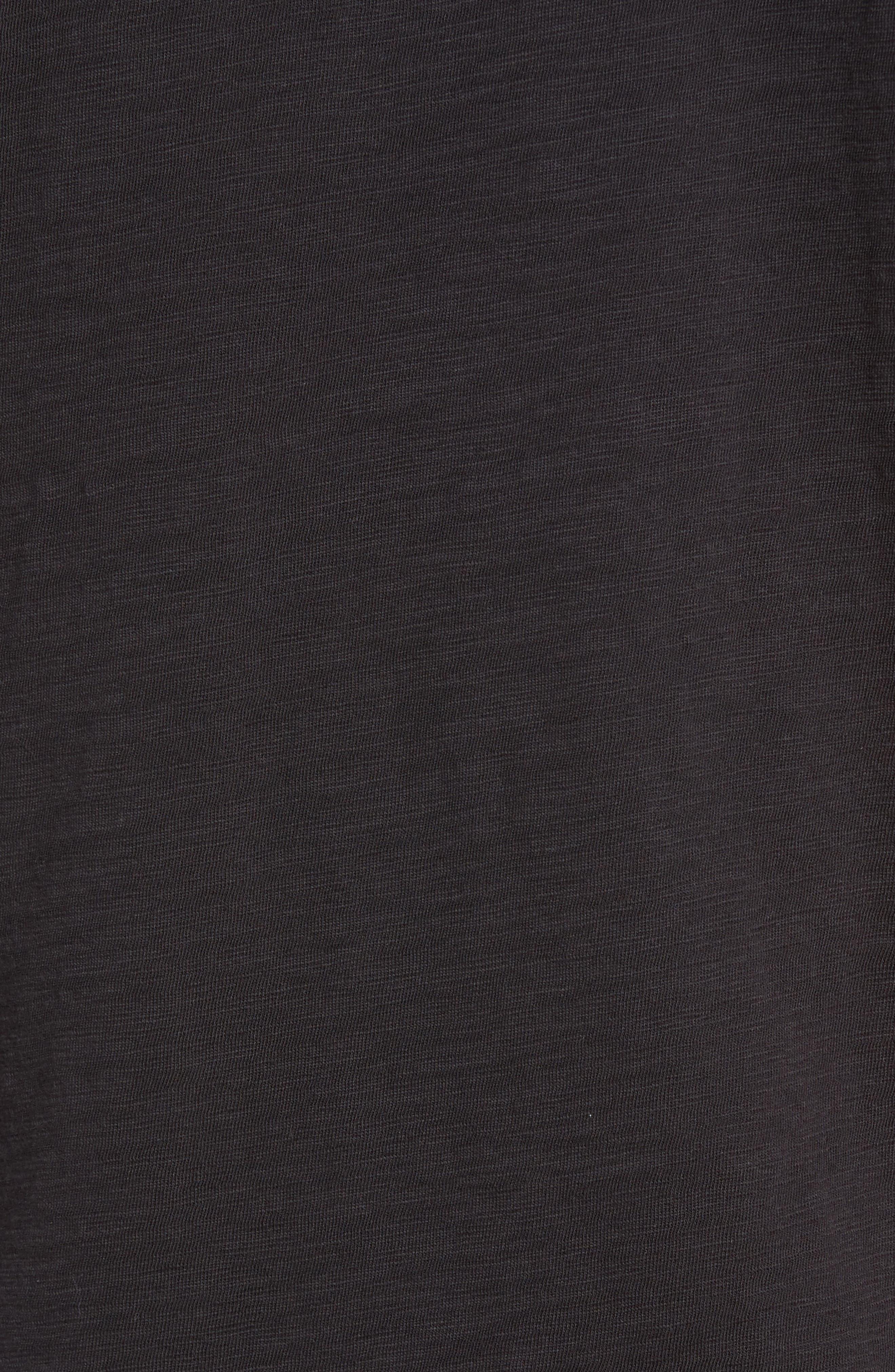 Slub Henley,                             Alternate thumbnail 5, color,                             BLACK